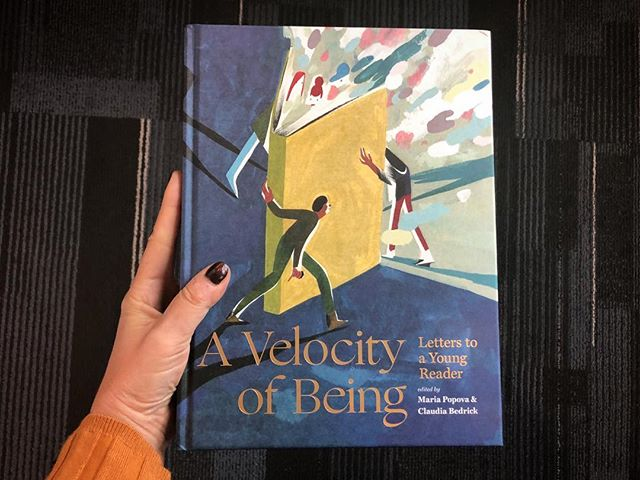 Had to come to Canada to get my hands on extra copies of @brainpicker and Claudia Bedrick's #VelocityofBeing (since it sells out so damn fast everywhere else). Beyond honored to be in such good company. There is nothing better than books. Forever and always. Give this to every young, old and middle-aged reader in your life.