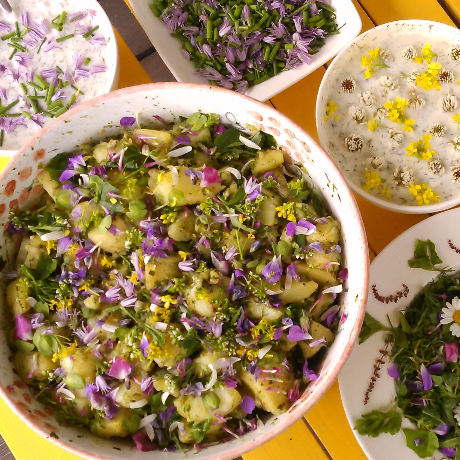 Blomstrende potetsalat