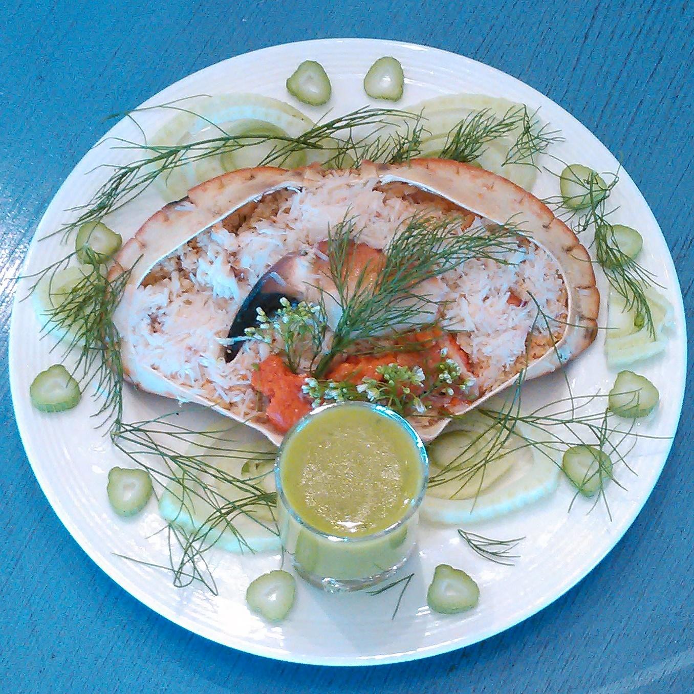 Krabbe med ramsløk aioli