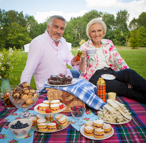 Judges Paul Hollywood and Mary Berry.  (those names! so perfect!)  Photo  credit .
