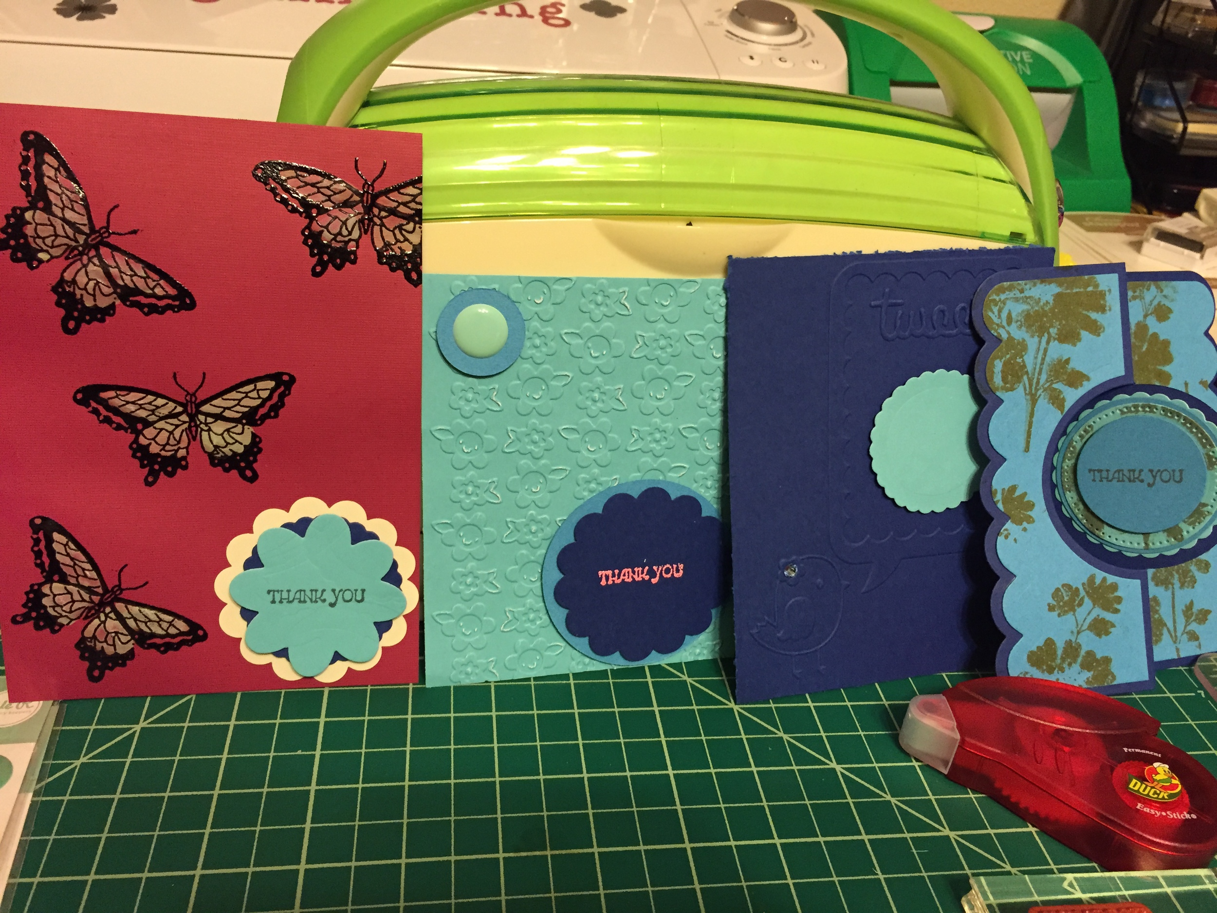Some of the Thank You cards I've been working on.
