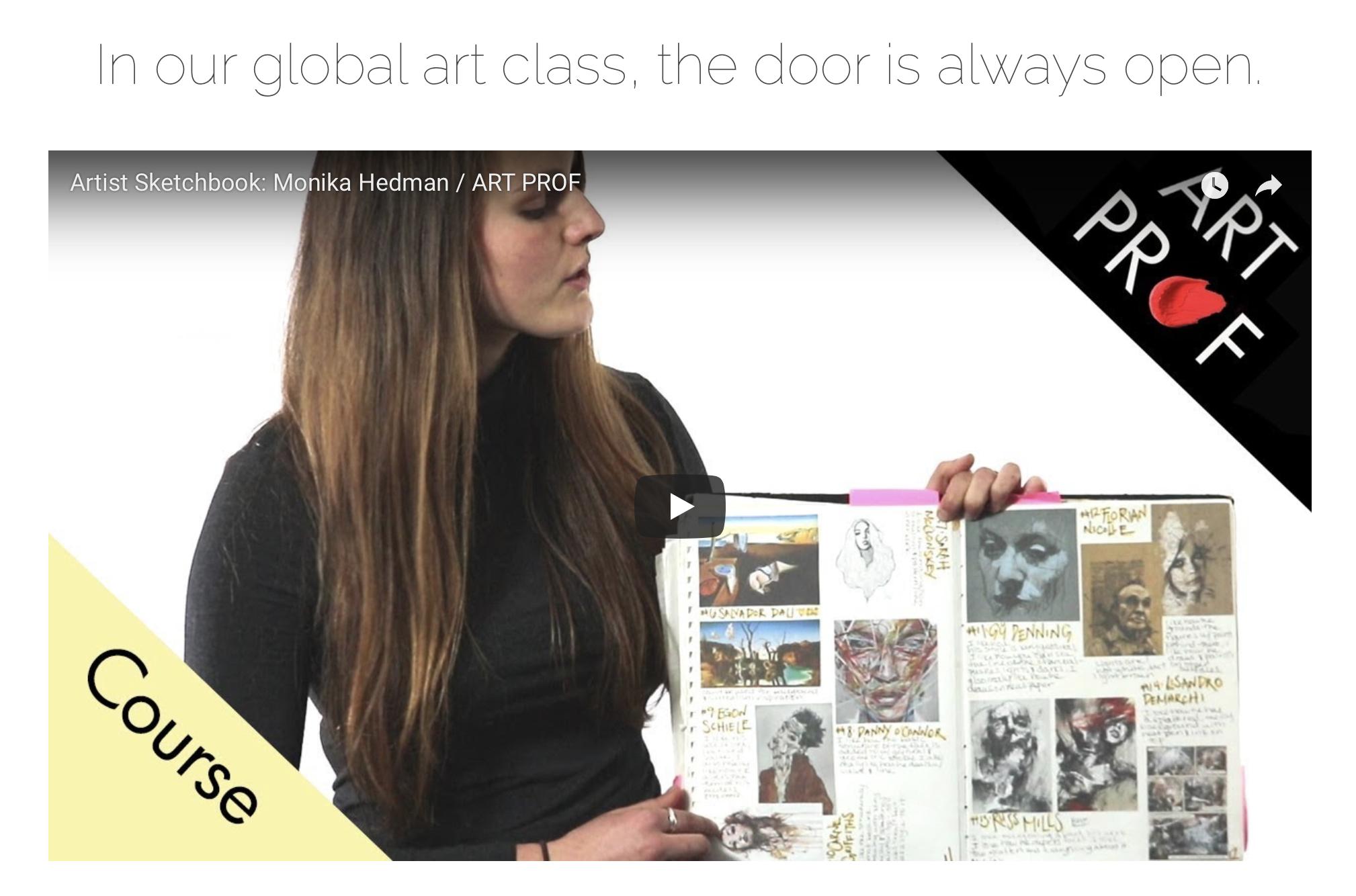art prof: artist sketchbook video