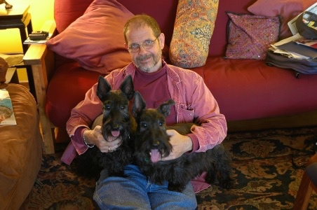 David Caudle with two of his Rescued dogs