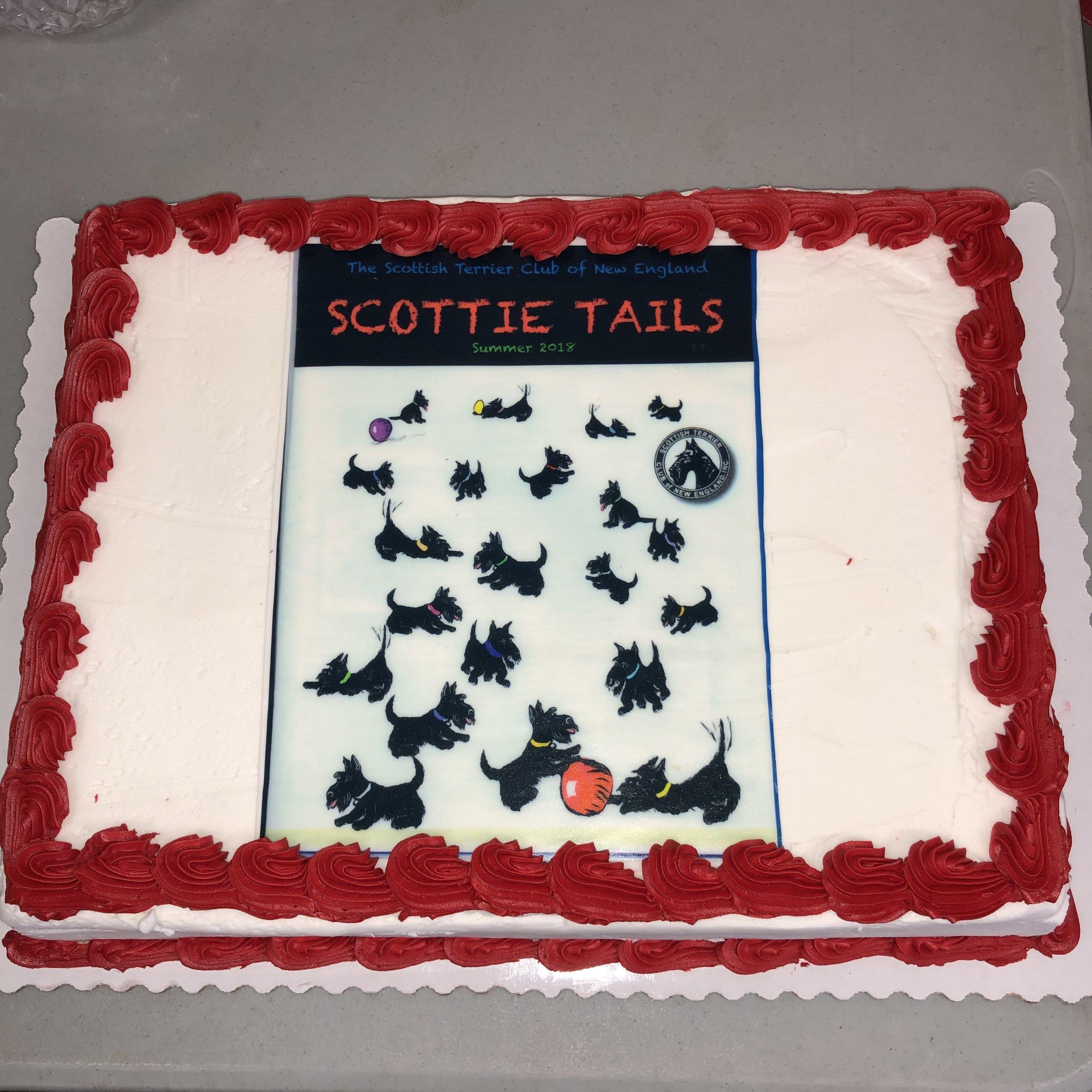 Scottie Tails cake