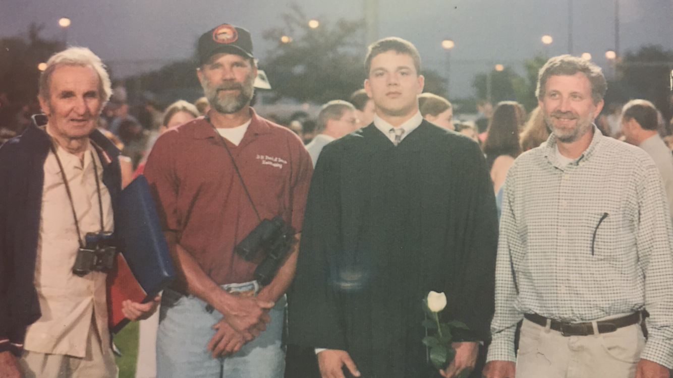 3 generations of Shellenbergers from the farm at my high school graduation in 2001. From left to right - Robert Shellenberger, Ken Shellenberger, Jake Shellenberger, Don Shellenberger