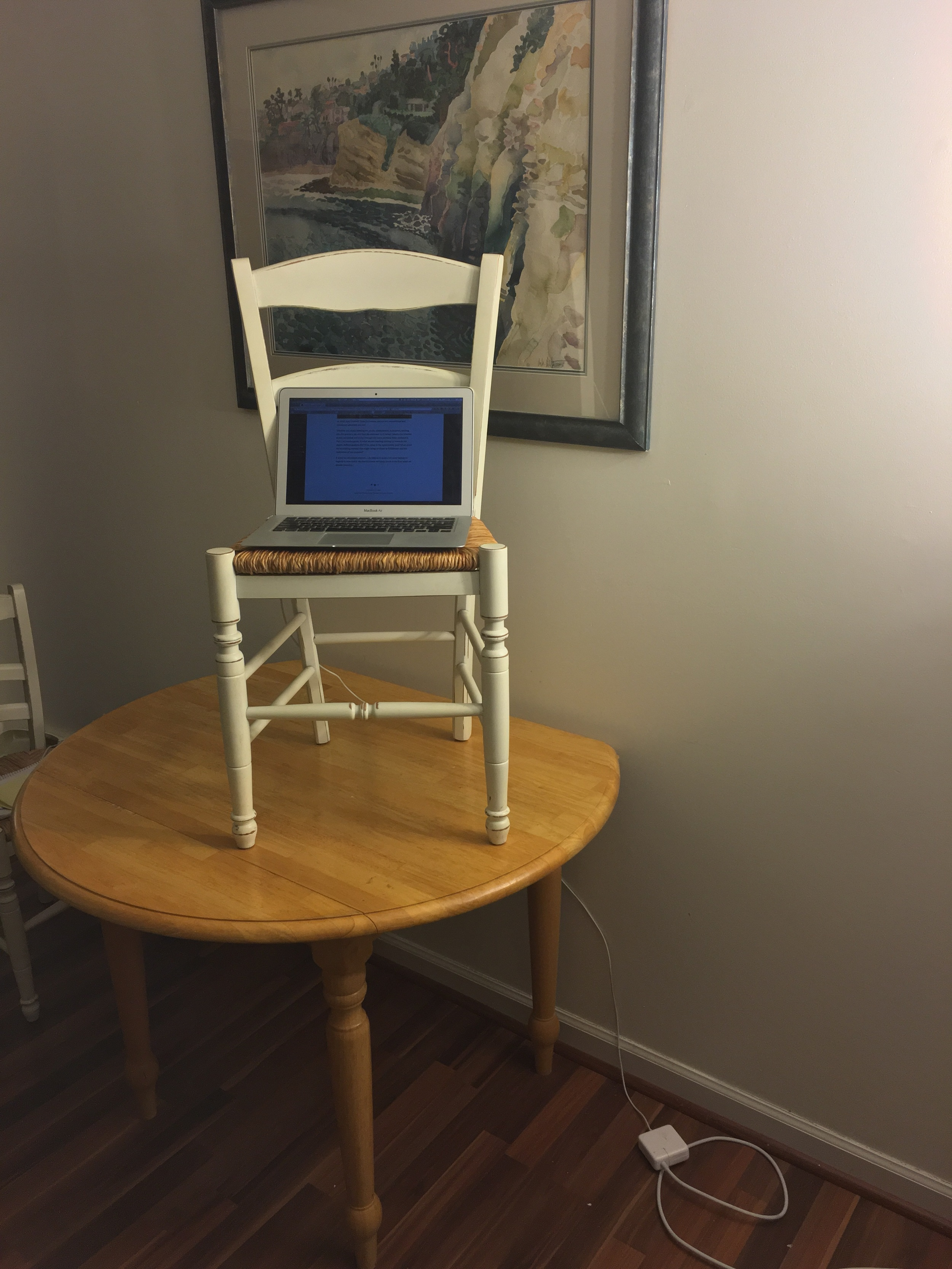 This article was brought to you via a homemade standing desk.