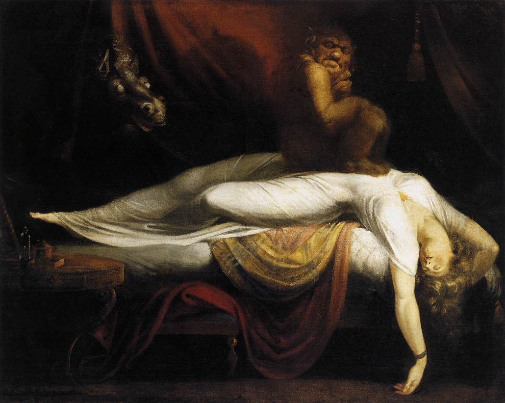 """ The Nightmare "" by Henry Fuseli, 1781"