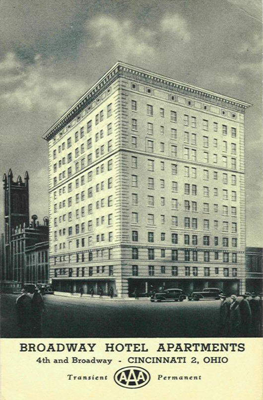 Old photo of the Broadway Hotel (southeast corner). It's so weird that I can literally see my windows in this picture.