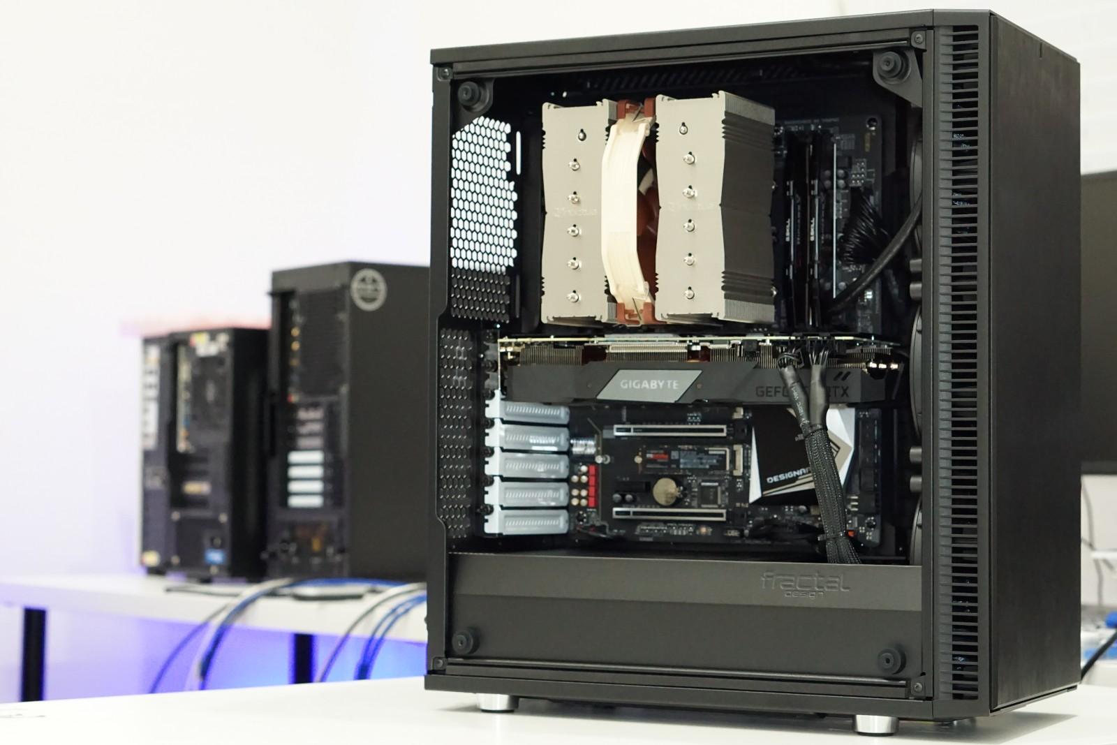 Popular Configuration - Case: Fractal Design Define CCPU: Intel i9 9900k w/Boost Clock Tune (BCT)Motherboard: Gigabyte z390 Designare ATXRAM: Corsair LPX 32GB 3200mhz (2x16GB)Video Card: Nvidia RTX 2060 SUPER 8GBCPU Cooler: Be Quiet! Dark Rock Pro 4Storage: Samsung 970 Evo Plus 1TBPower Supply: EVGA G3 750watt GoldOperating System: Windows 10 PRO 64bitPRICE: $3543 + Shipping & Tax(Other Configurations available)