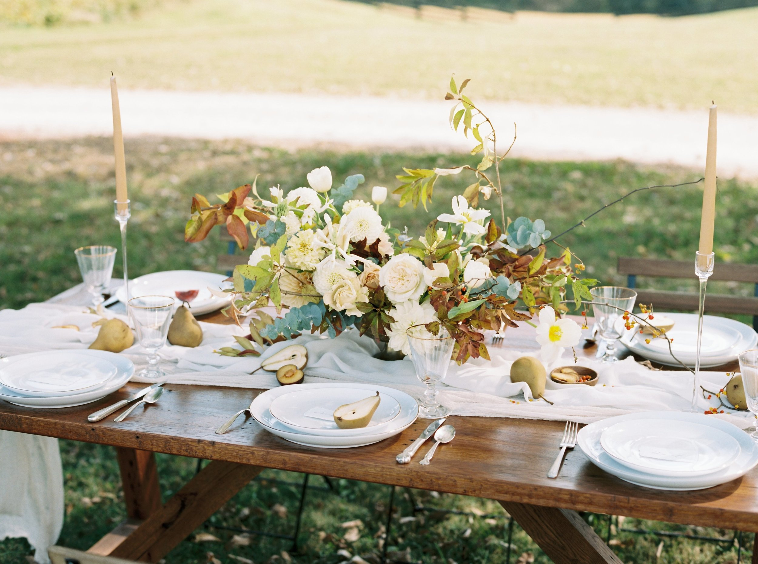 Styling:  Events Held Dear   / Photography:  Kyle John Photography  / Location:  Richwood on the River  / Fabrics:  Stella Wolfe  / Stationary:  Plume Calligraphy