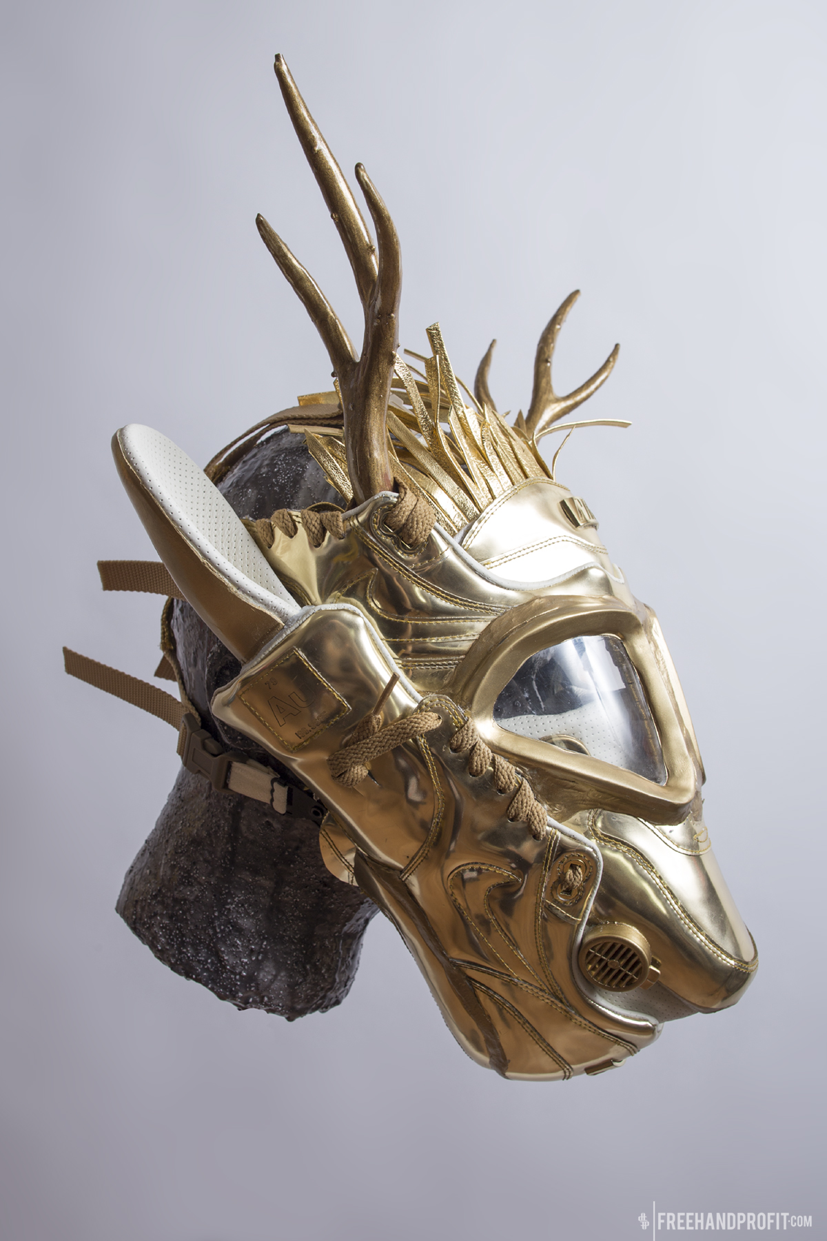 No.110: Liquid Gold Air Max 1 Gas Mask  [CLICK FOR MORE}
