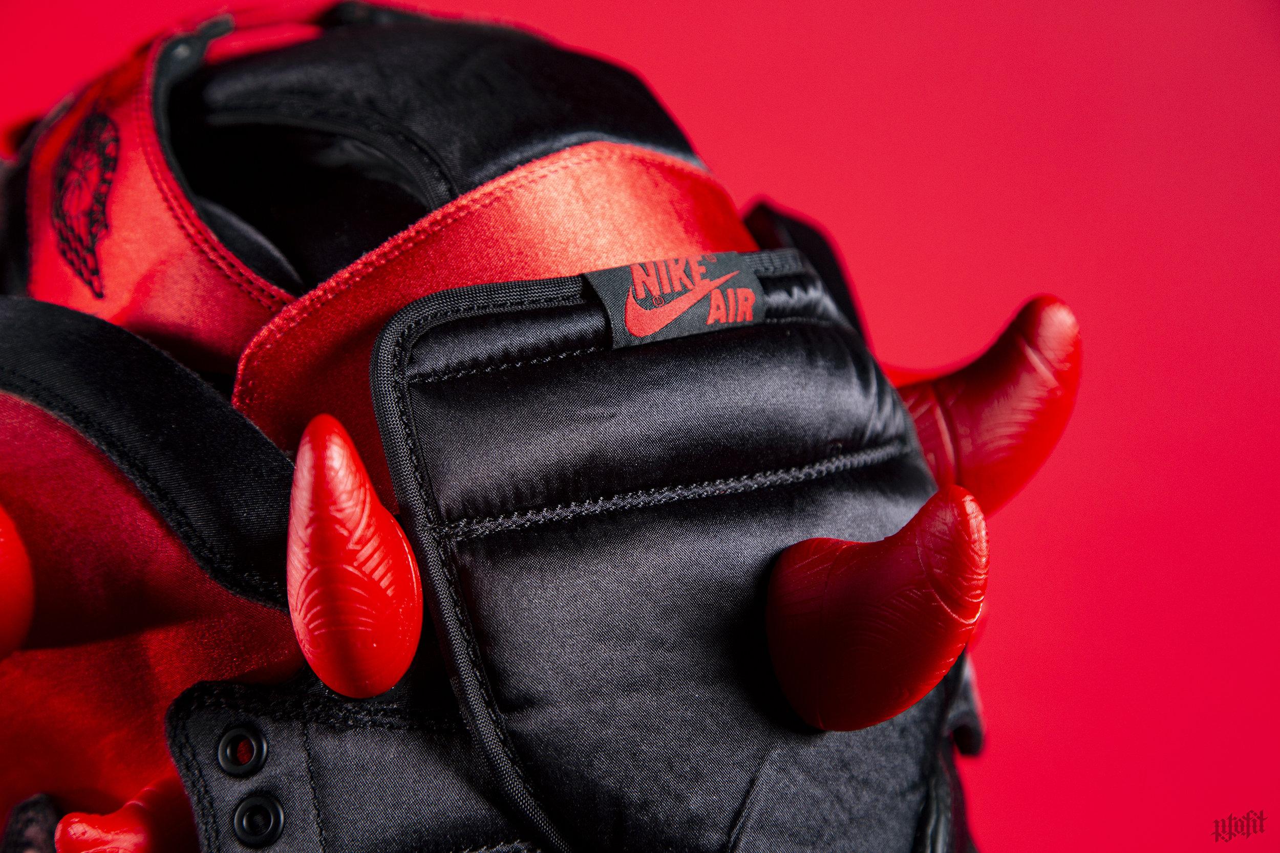 Satin Jordan 1 Darth Maul Gas Mask