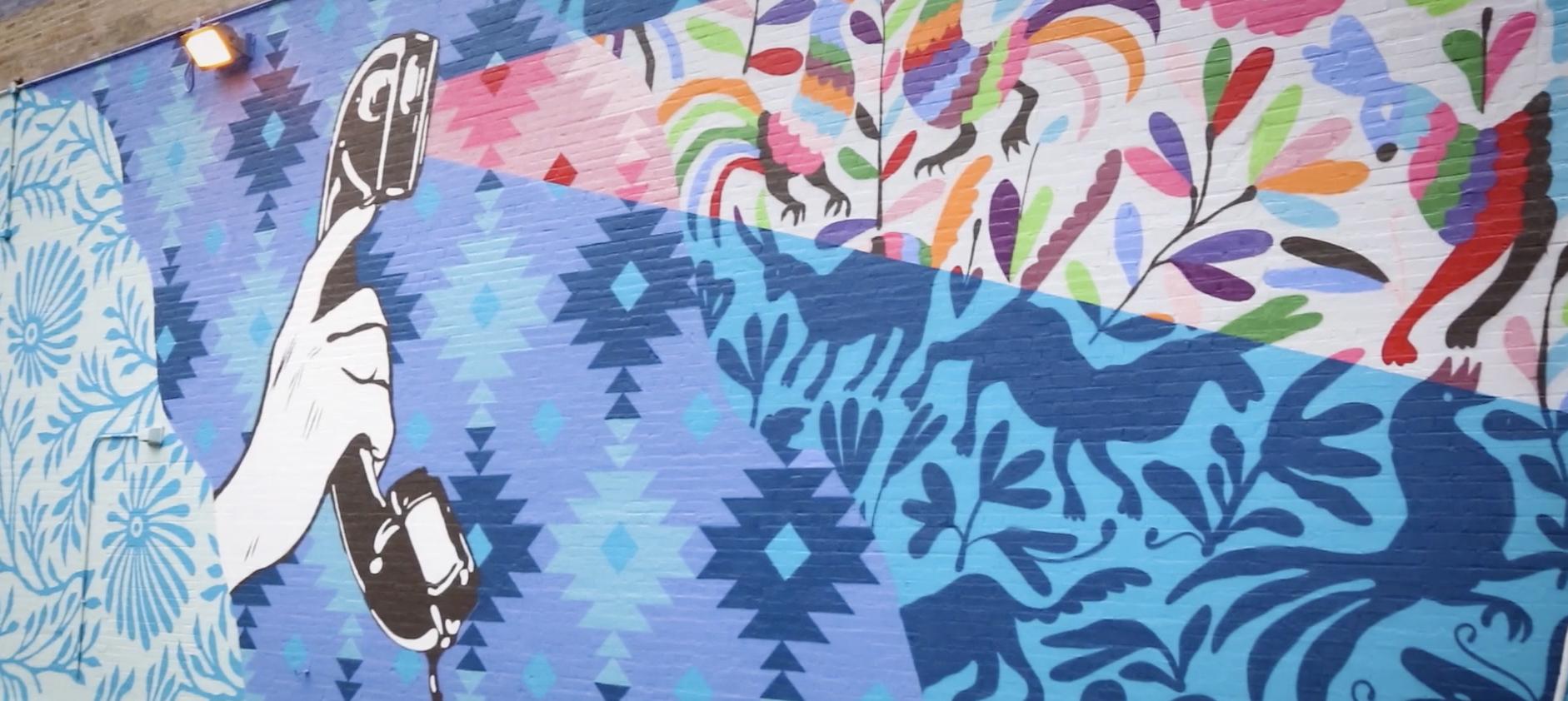 "Sister Cities Toronto-Chicago Mural Exchange, pictured detail of Kirsten McCrea / HelloKirsten's ""Listen to Learn,"" Chicago 2019"