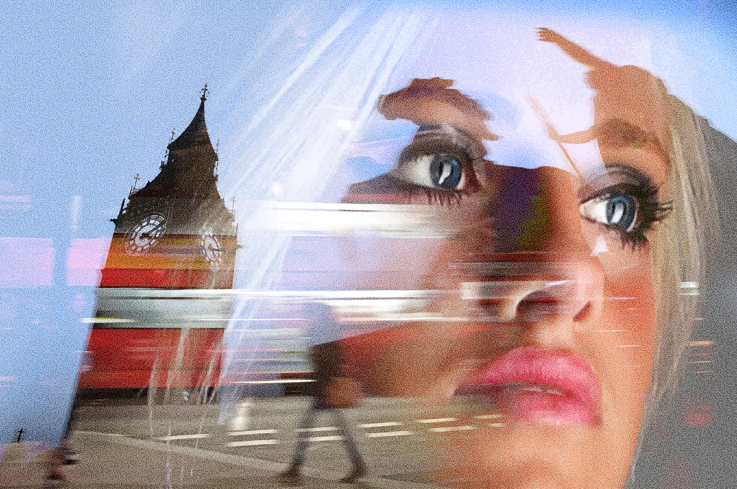 Businesswoman Thinking About Boadicea. London.