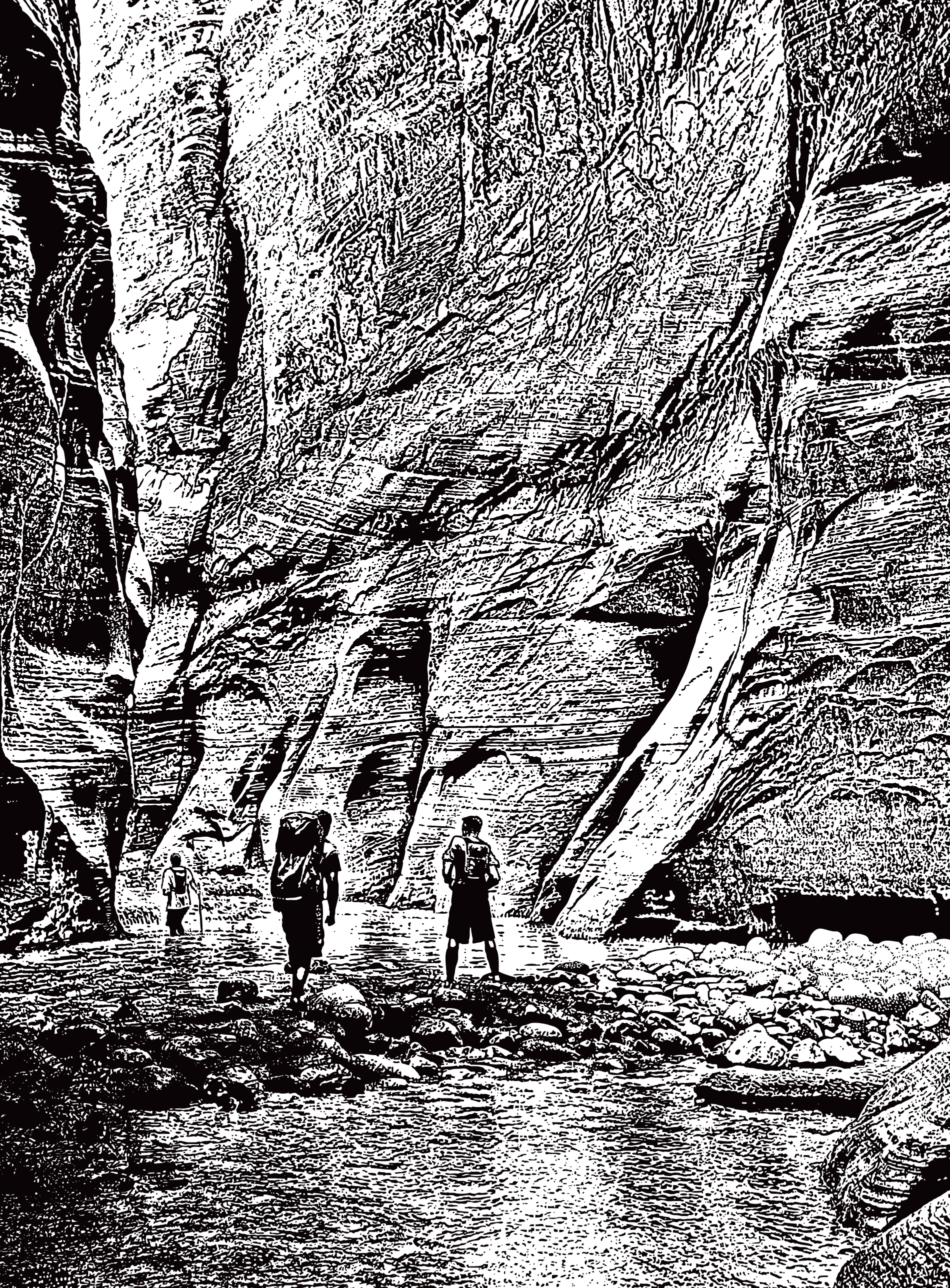 Hiking The Narrows. Zion National Park