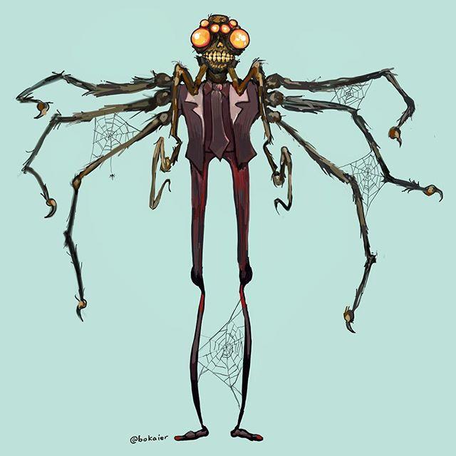 Daddy Long Legs #drawtober 17.  1.5 hours, iPad with stylus. #Bo365 sketchy art. | | #drawtober2017 #spiders #daddylonglegs #halloween #monster #monsters #darkart #drawing #illustration #artwork #artist #instadaily #igdaily #instaart #sketch #sketchaday #painting #digitalart #digitalpainting #instaartist #instadraw #artstagram #artistsoninstagram