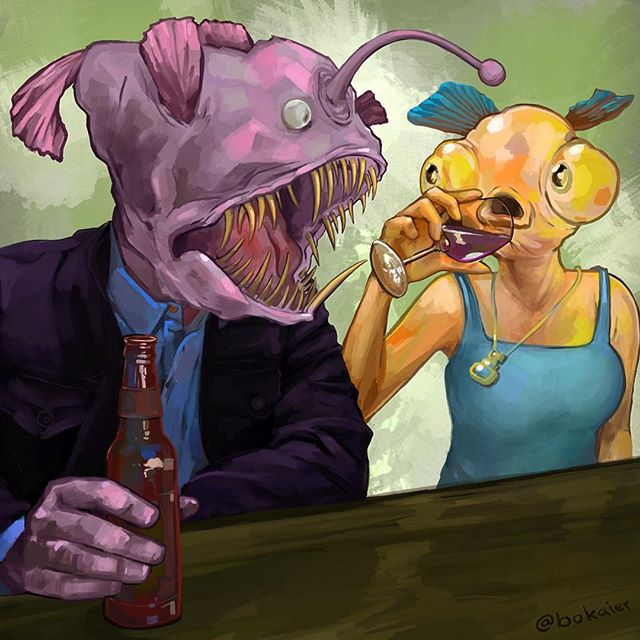 Angling.  #Bo365 sketchy art.  #fish #fishing #instafish #angler #anglerfish #barscene #digitalart #digital #art #drawing #illustration #art #artwork #artist #instadaily #igdaily #instaart #painting #original #digitalart #digitalpainting #instaartist #instadraw #artstagram #artistsoninstagram