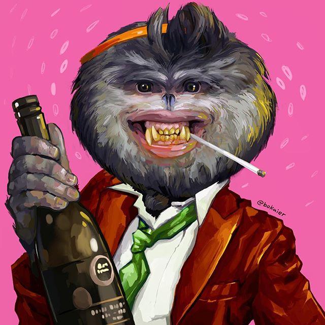 Party Animal! #Bo365 sketchy art.  #partyanimal #animals #monsters #partying #drawing #illustration #artwork #artist #instadaily #igdaily #instaart #sketch #sketchaday #painting #digitalart #digitalpainting #instaartist #instadraw #artstagram #artistsoninstagram #partytime