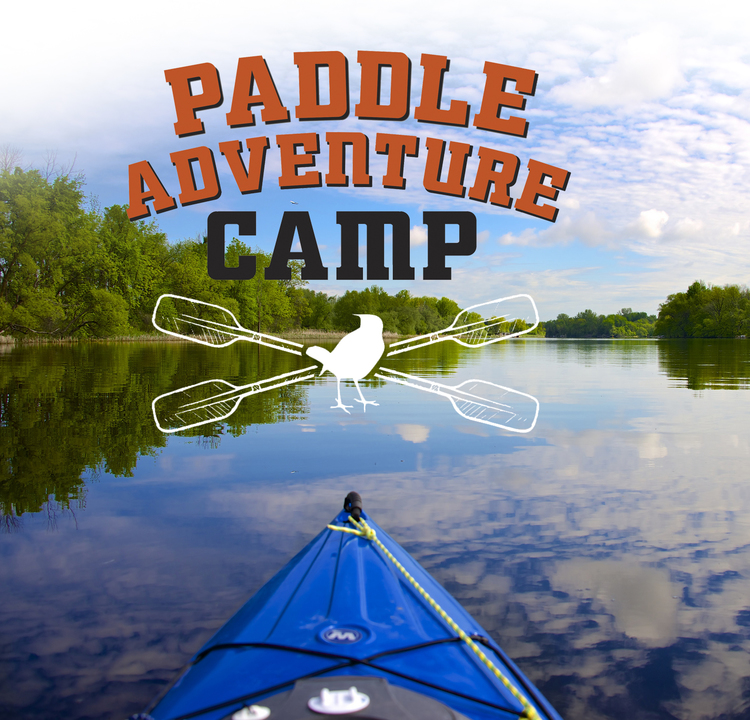 "Client: Friends of Rye Nature Center Job: A poster for ""Paddle Adventure Camp"""