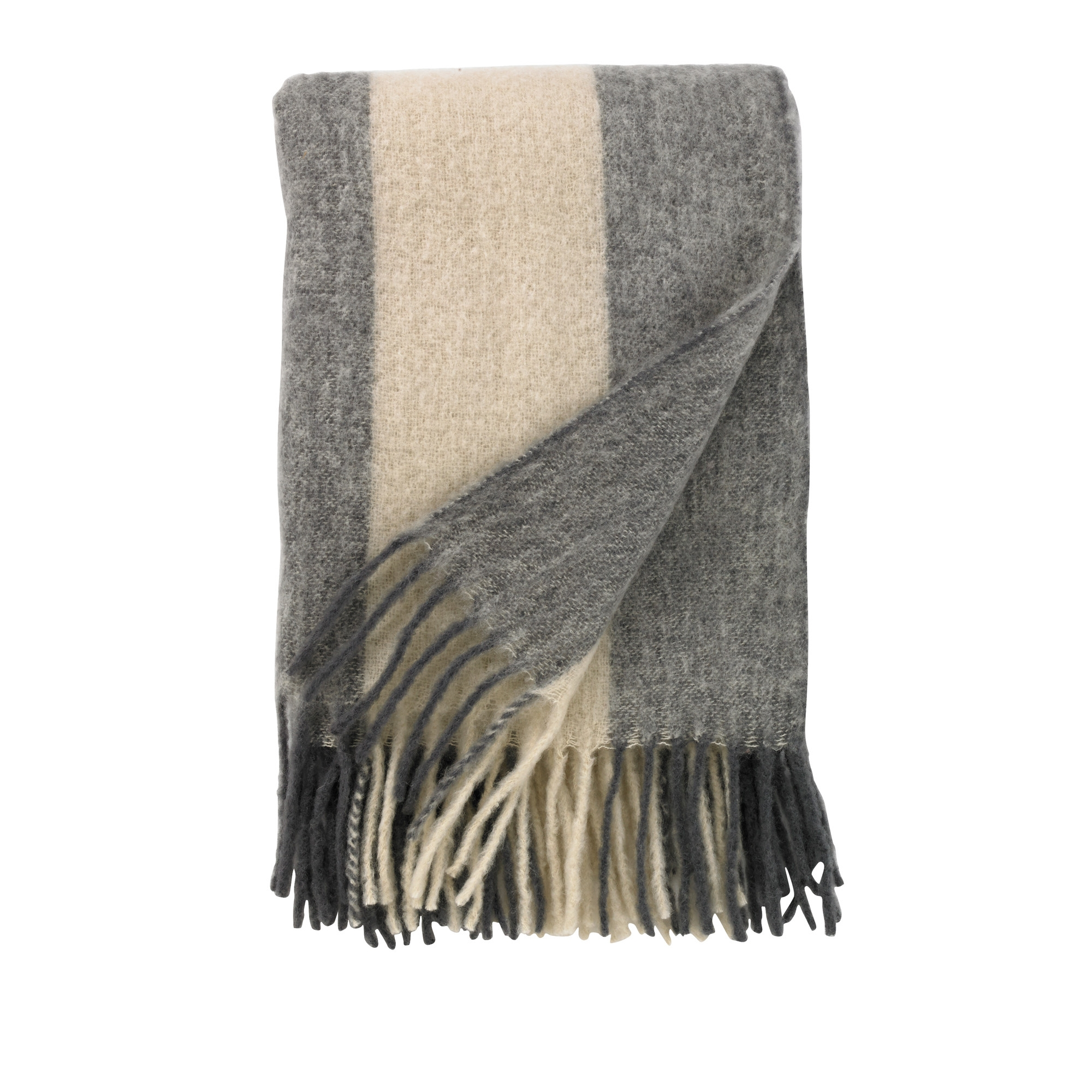 Mohair Striped Throw, $119