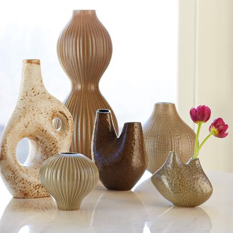 Jonathan Adler Ceramic Relief Vases