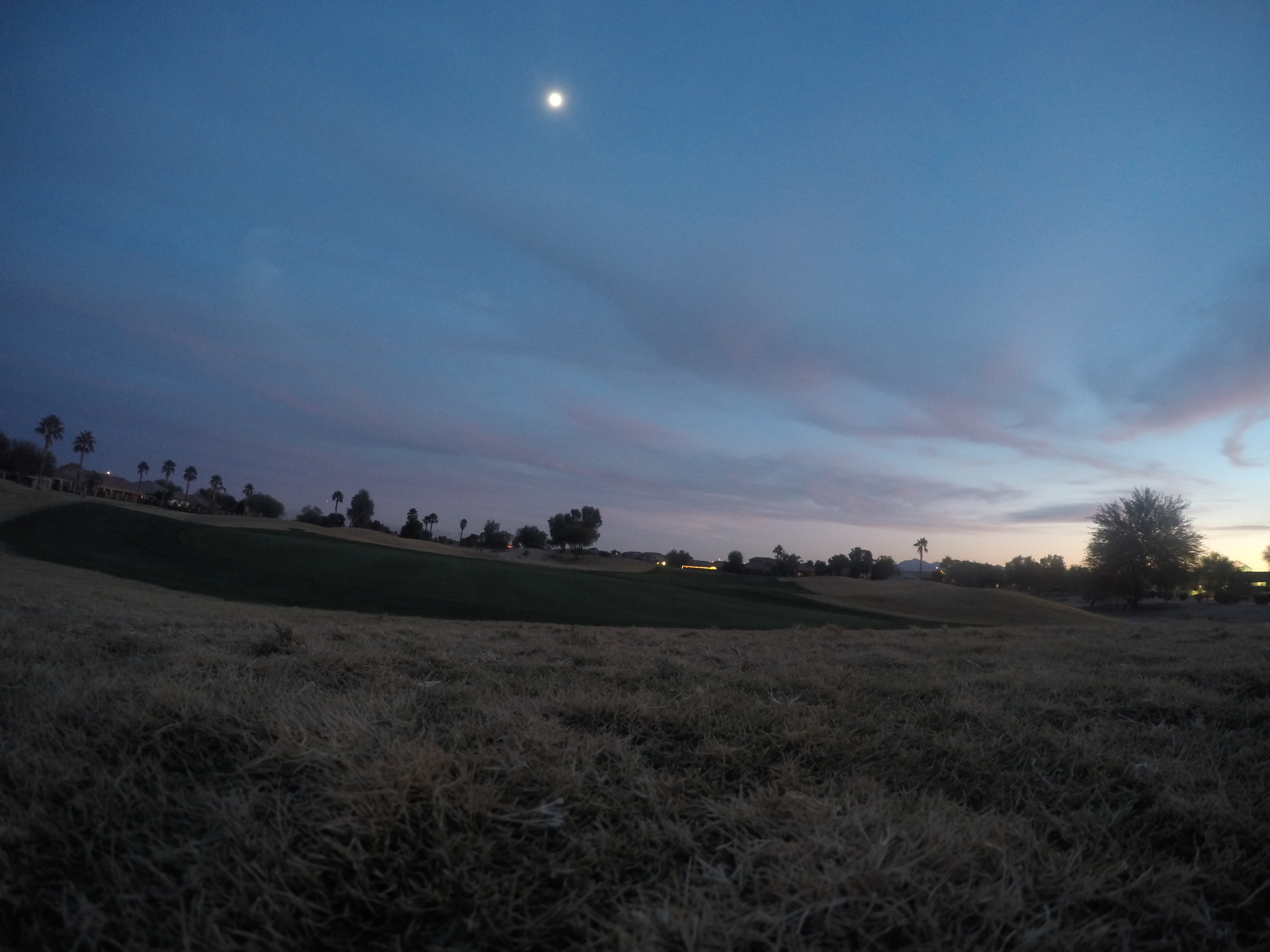 We recently added a GoPro to our equipment stash and it has been fun testing it out on the golf course across the street.