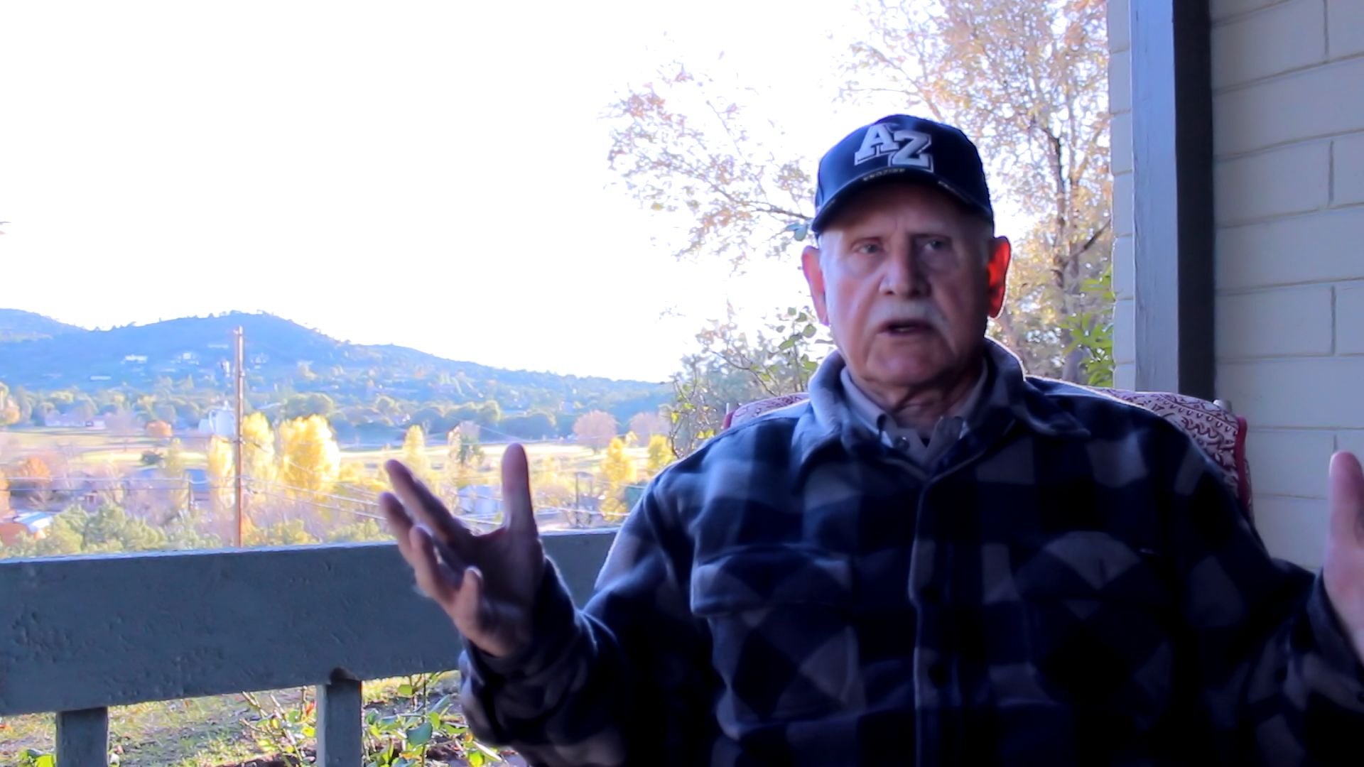I LOVE this man! In the midst of recording his Personal History and I couldn't be more excited about it. This is a still from the video I am working on, but I love spectacular view from his house in Payson.