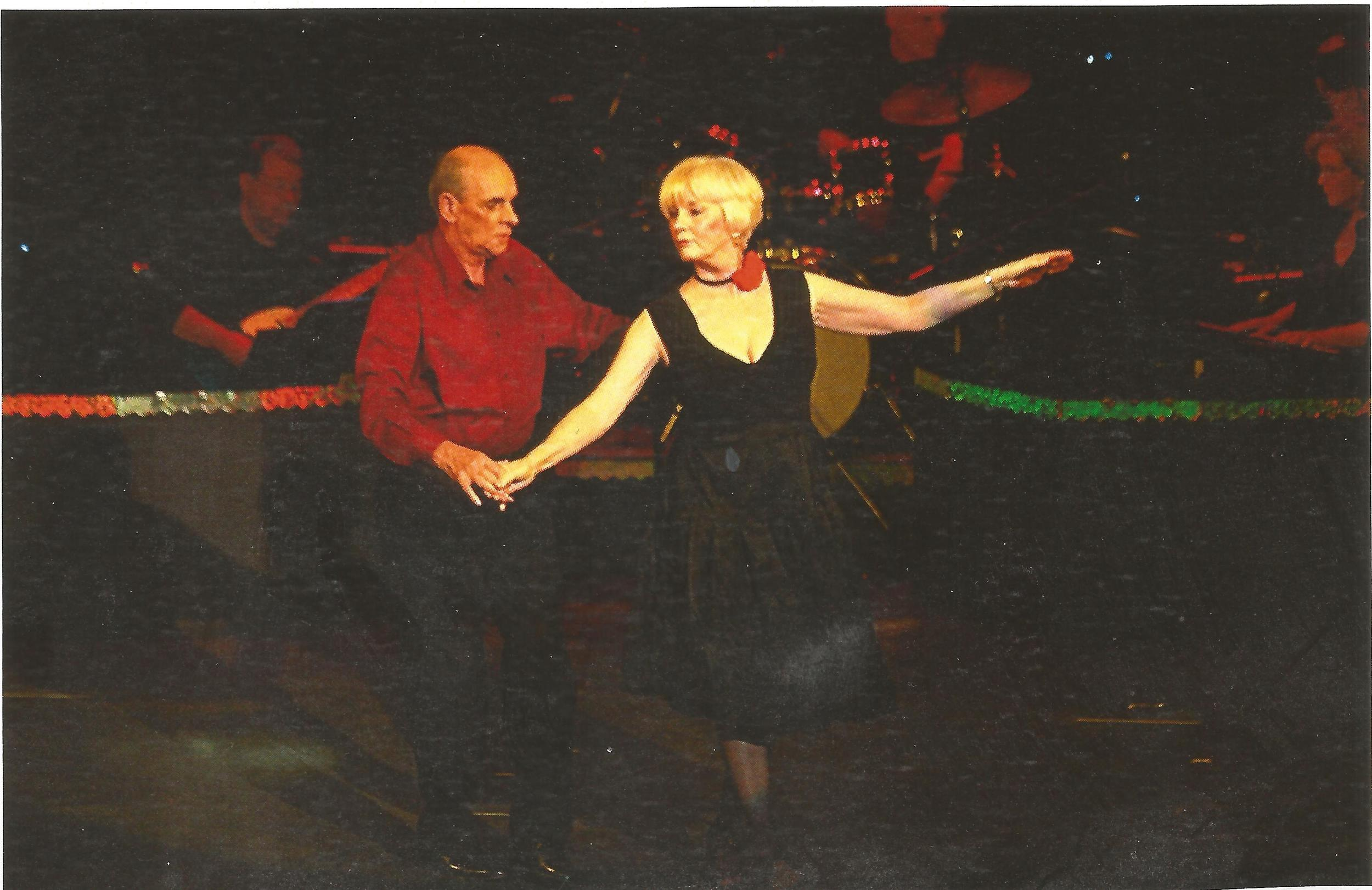 A client, David Mucklow, dances in a production at Pebble Creek. Photograph used with permission.