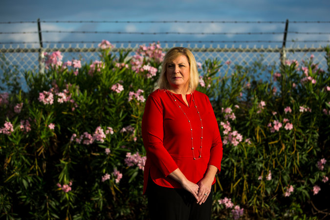 Heather Callahan Chuck, one of the exonerated TSA officers, photographed by Kent Nishimura for NYT.