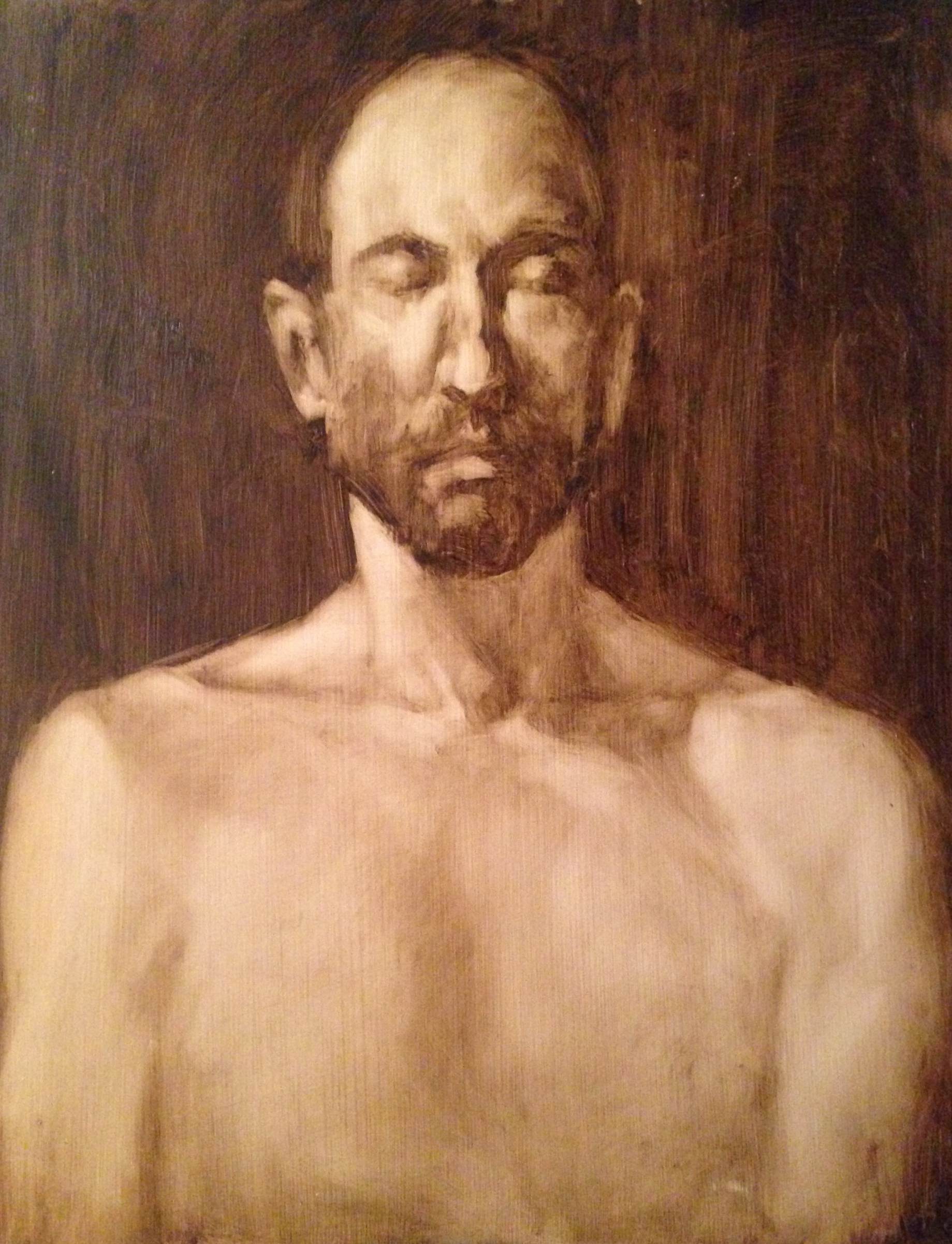 Oil on gessoed paper 10.5 x 15 inches 2015