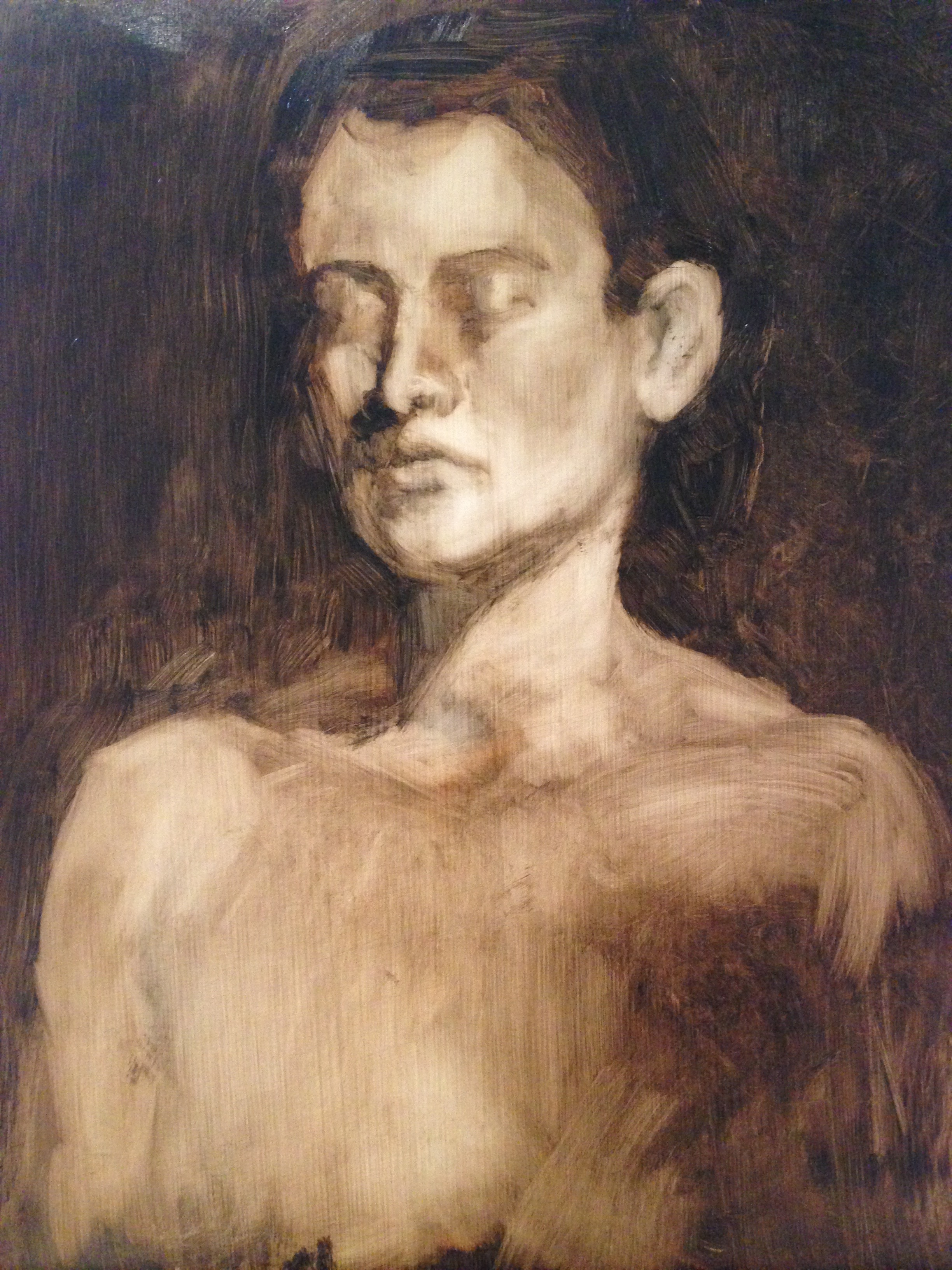 Oil on gessoed paper 10.5x15 inches 2015