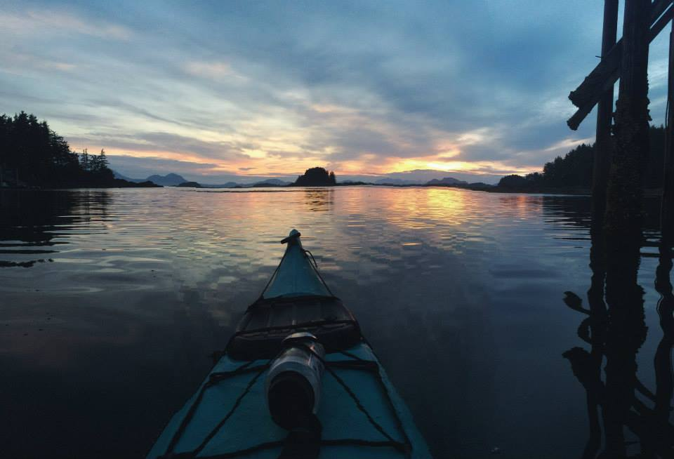 one of the last days in Sitka, kayaking with Raph