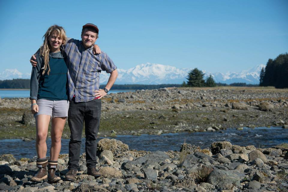 the We Eat Fish! video/photo team, Kendall and Lee, in Yakutat, AK