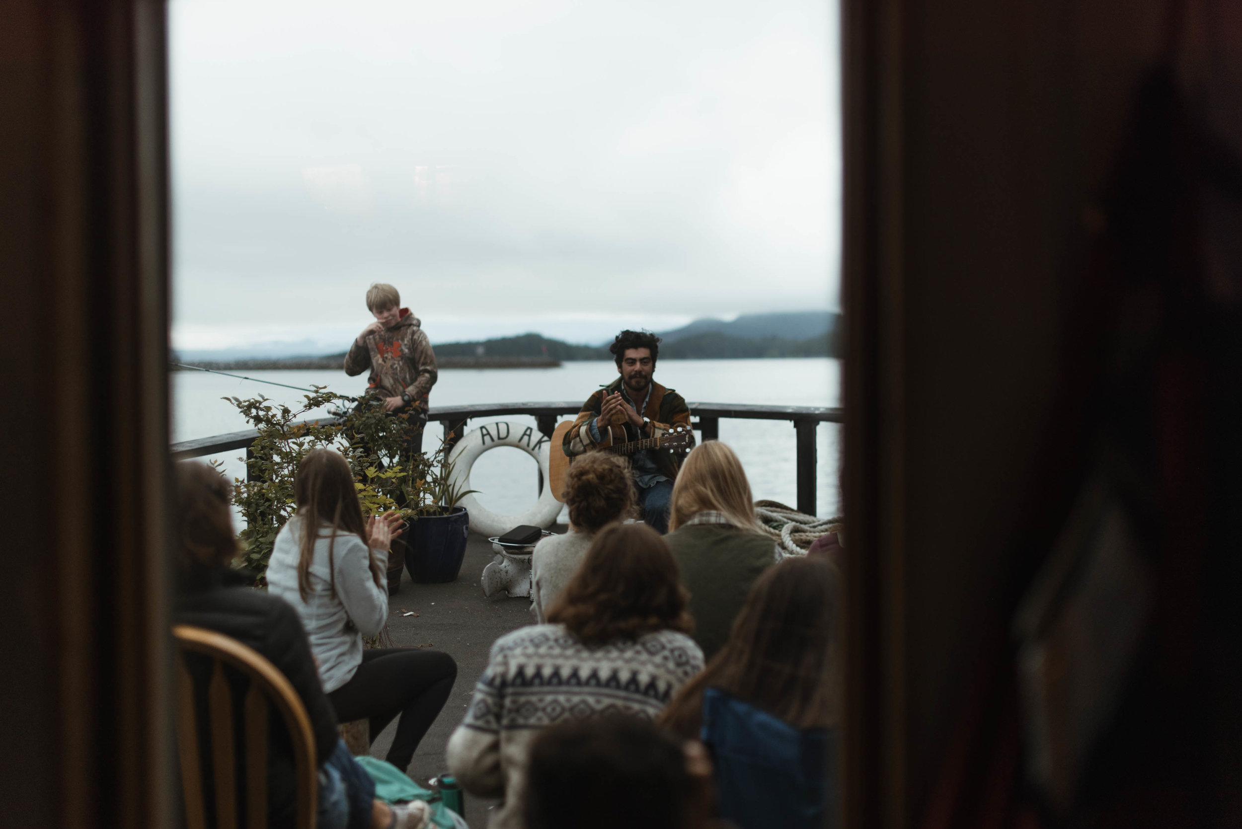 Sitka Alaksa tugboat concert with R.O. Shapiro - Kendall Rock Photography