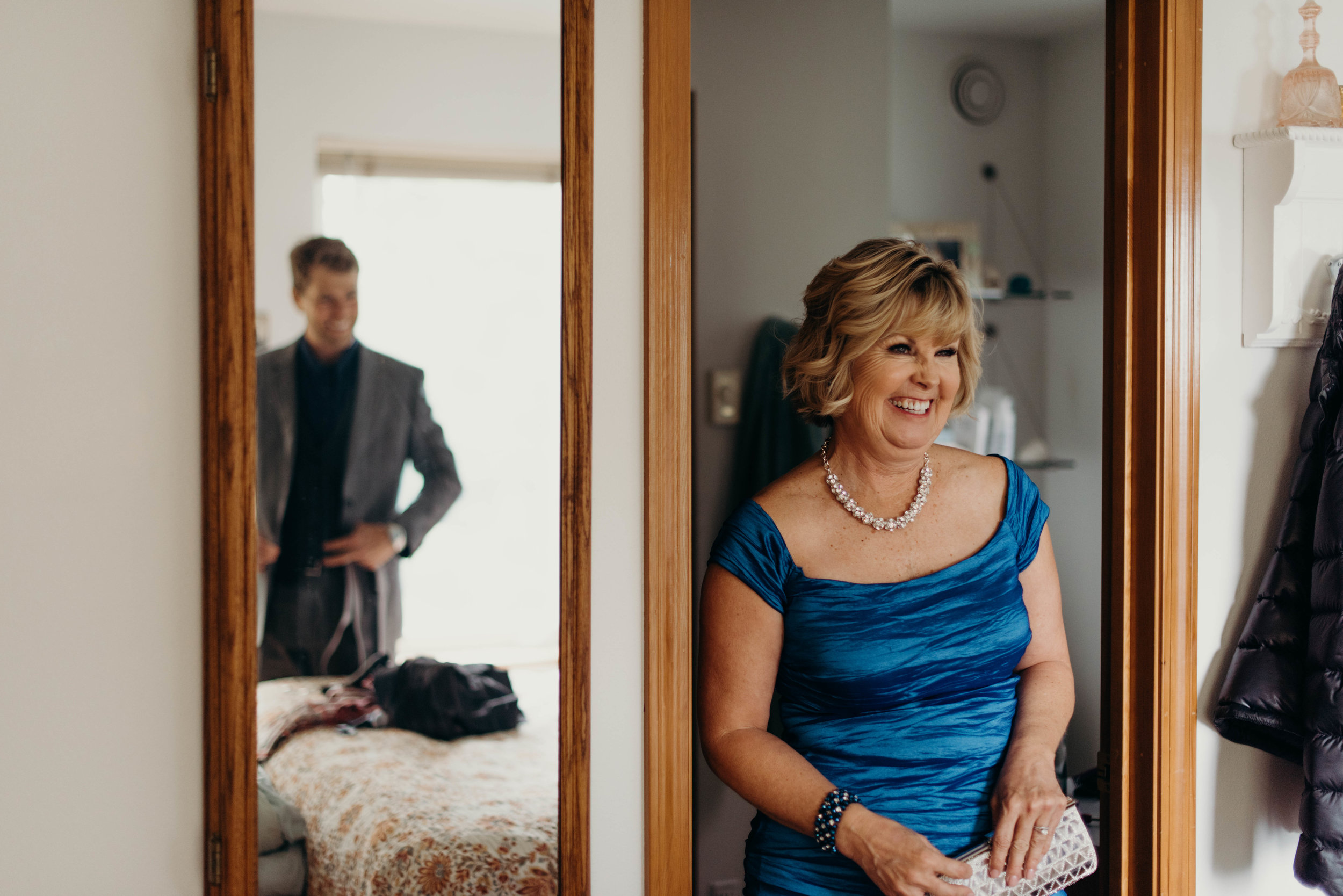proud mother of groom, Sitka, Alaska mountain wedding