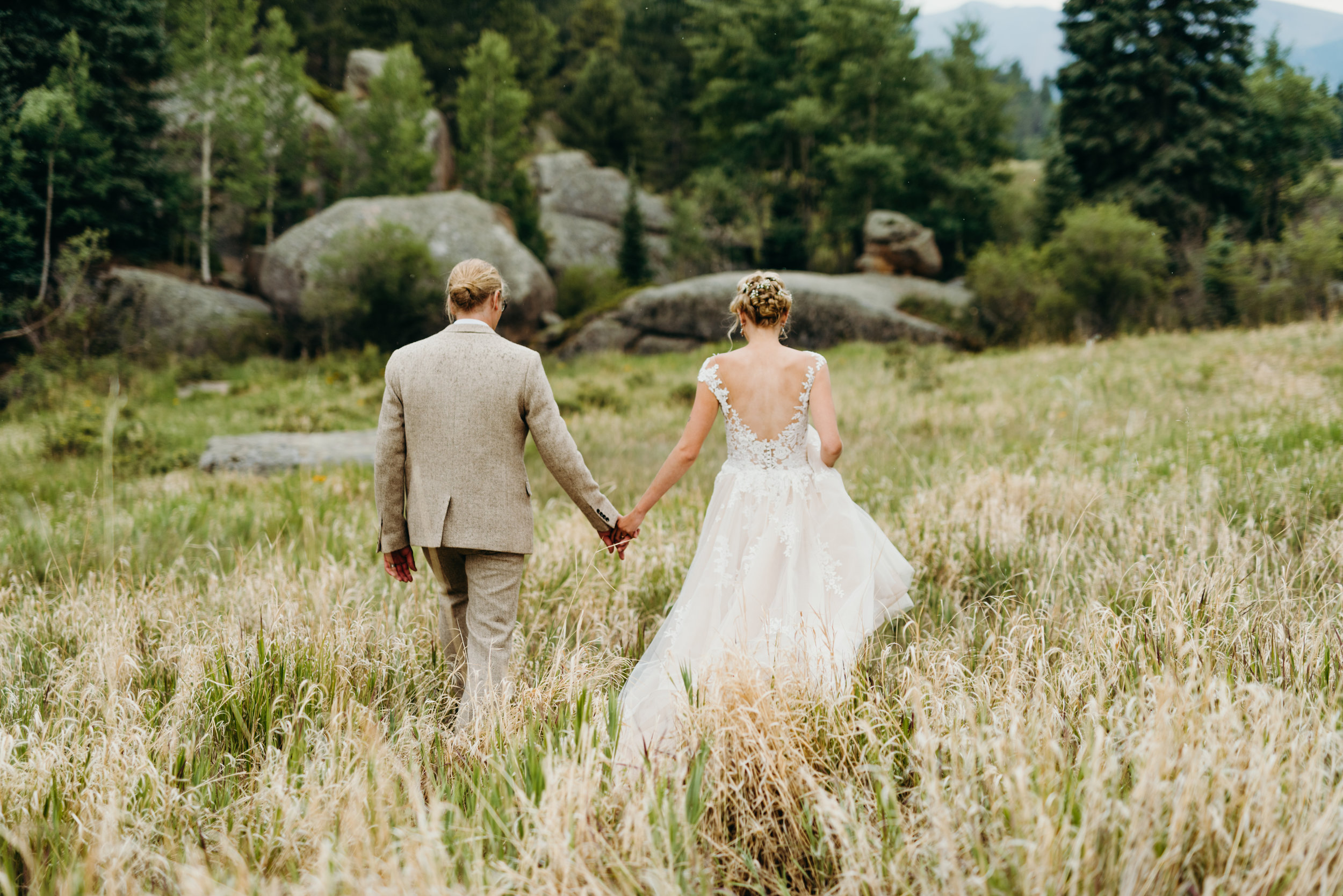 Ally & Jared's Rustic Colorado mountain / diy / summer camp wedding