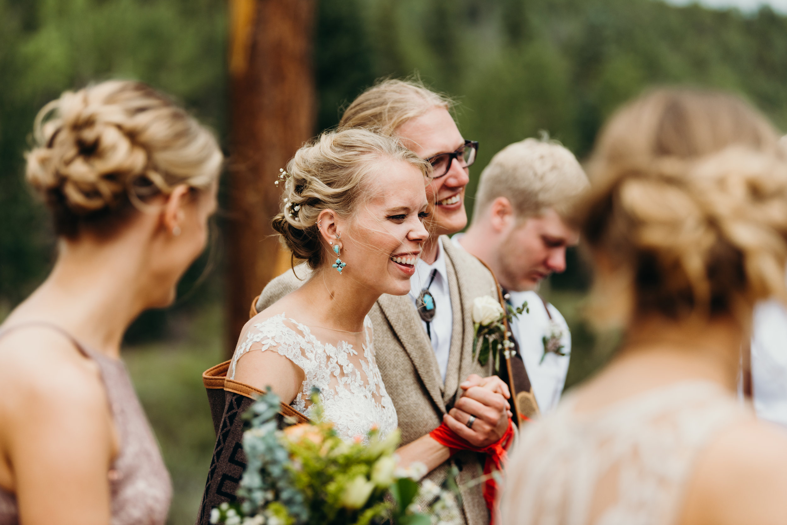 Ceremony / Ally & Jared's Rustic Colorado mountain / diy / summer camp wedding
