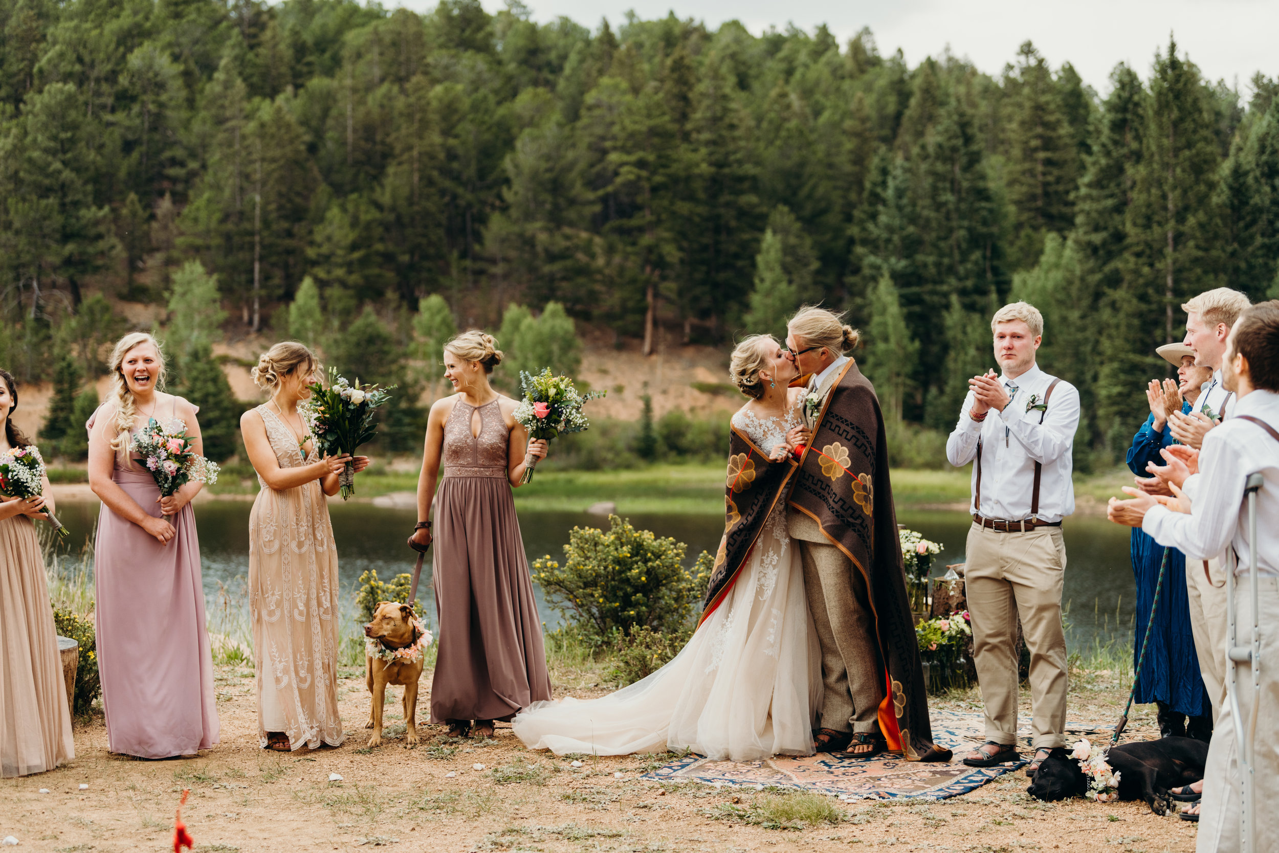 Smooch! Ally & Jared's Rustic Colorado mountain / diy / summer camp wedding