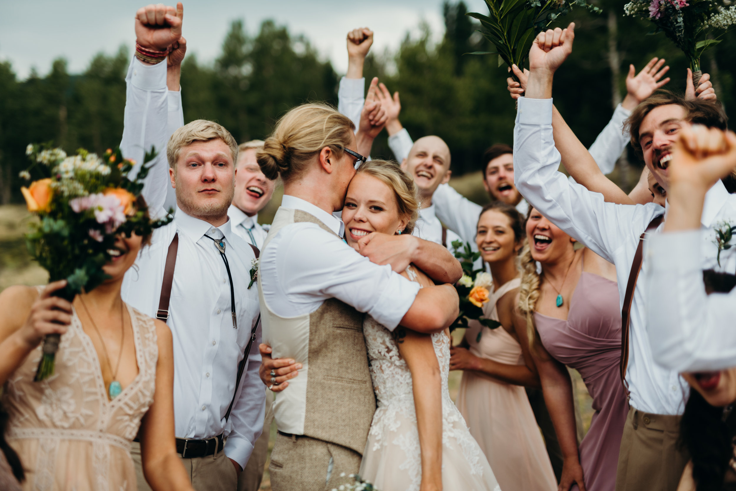 Celebrate! Ally & Jared's Rustic Colorado mountain / diy / summer camp wedding