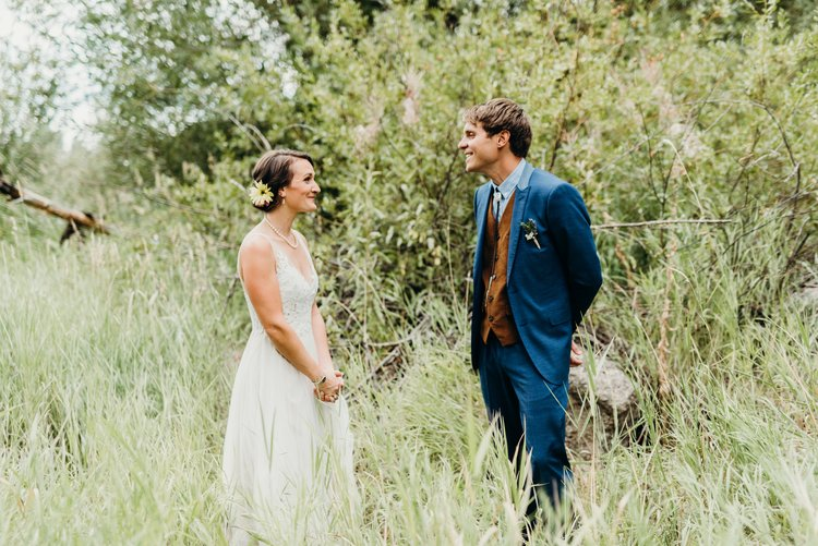 First look - Sarah & Ben's Steamboat Springs, Colorado Bicycle Wedding