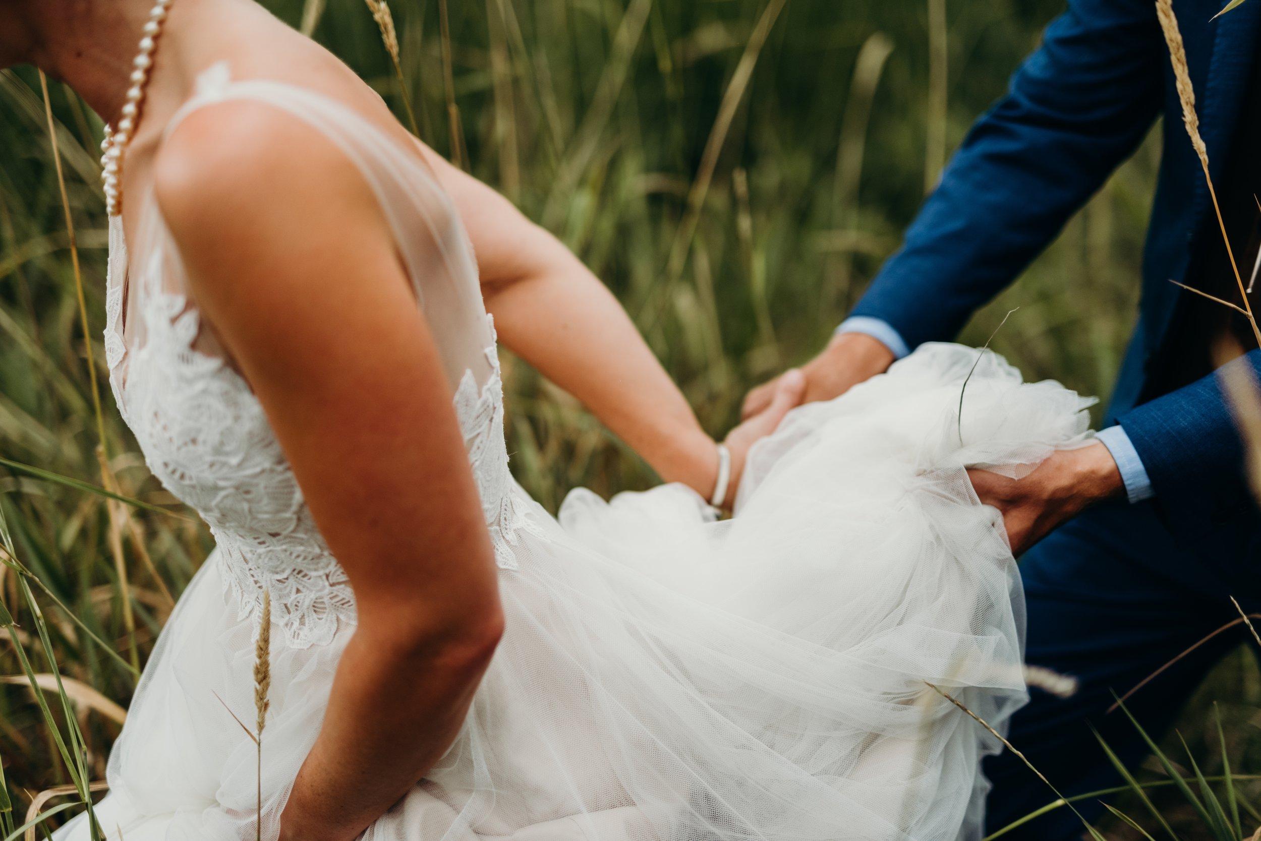 First look - Sarah & Ben's Steamboat Springs, Colorado Bicycle Wedding