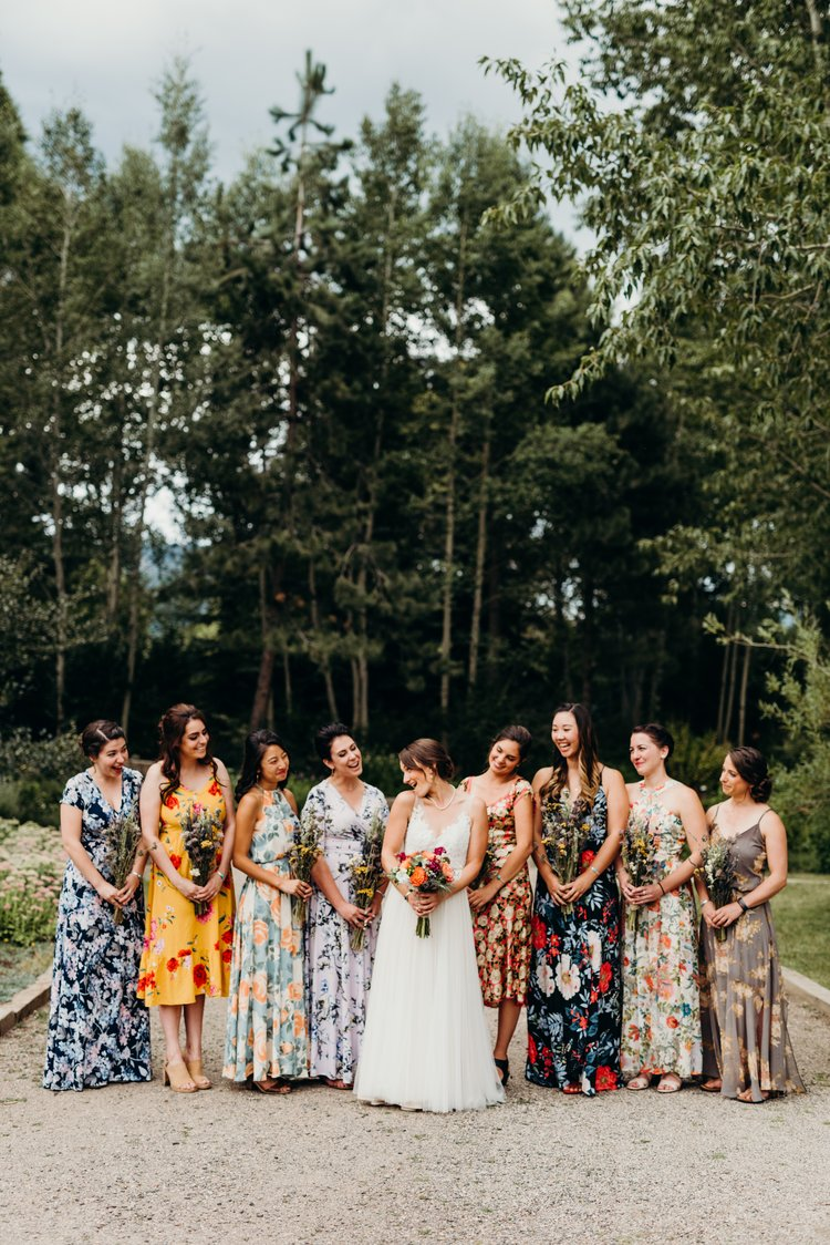 Bridal party - Sarah & Ben's Steamboat Springs, Colorado Bicycle Wedding