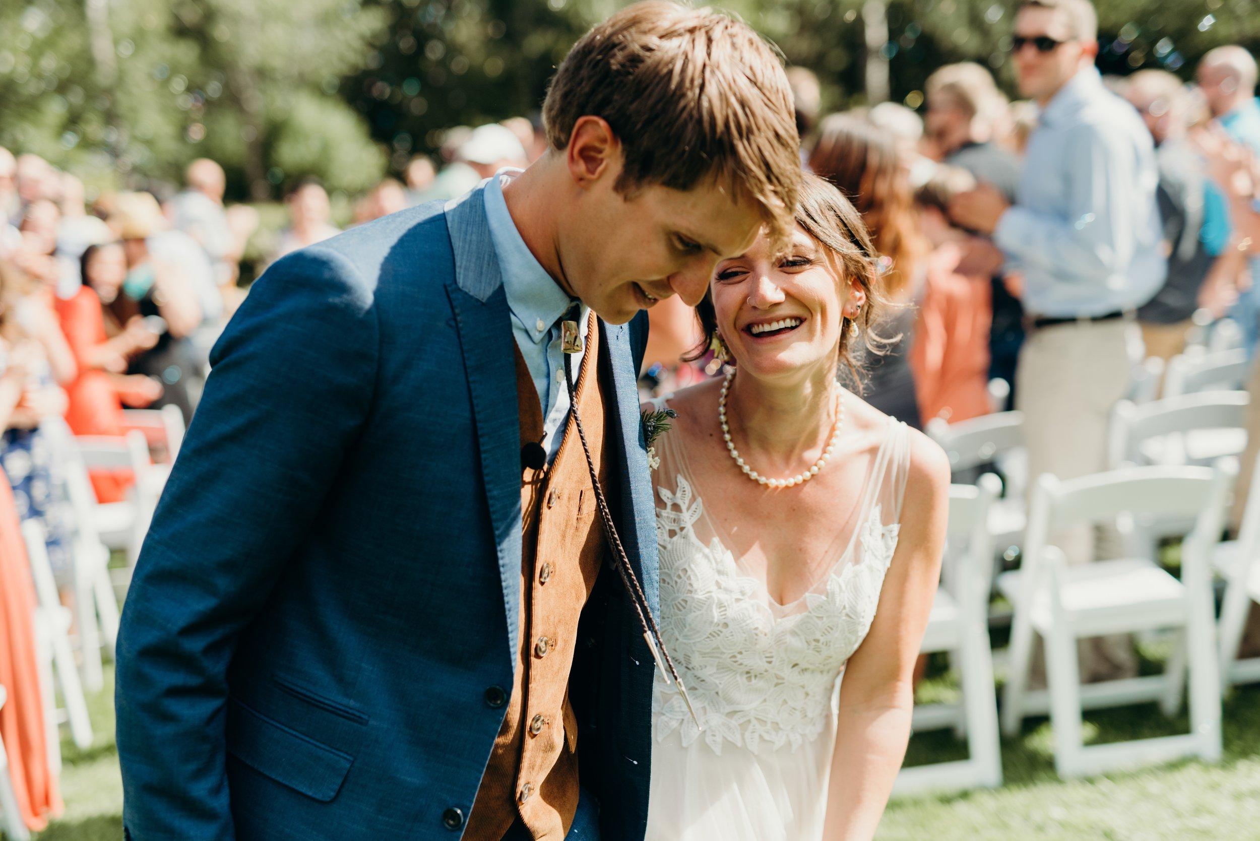 Sarah & Ben's Steamboat Springs, Colorado Bicycle Wedding