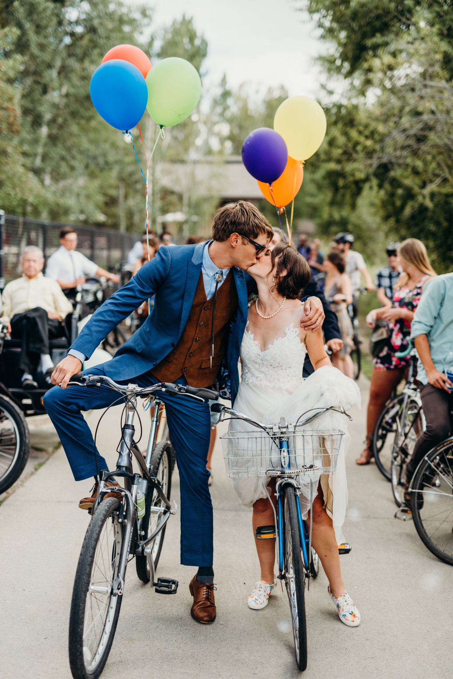 Sarah & Ben's Steamboat Springs, Colorado Bicycle Wedding