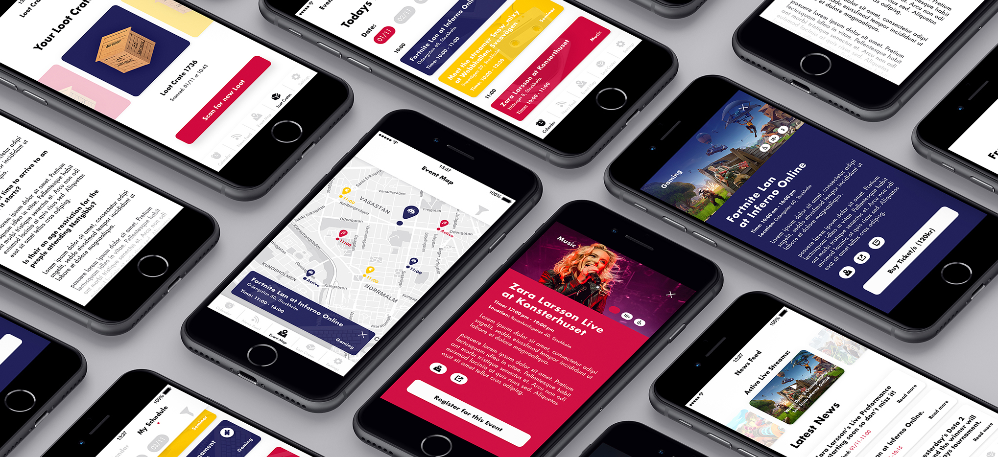 Red Bull App Screens
