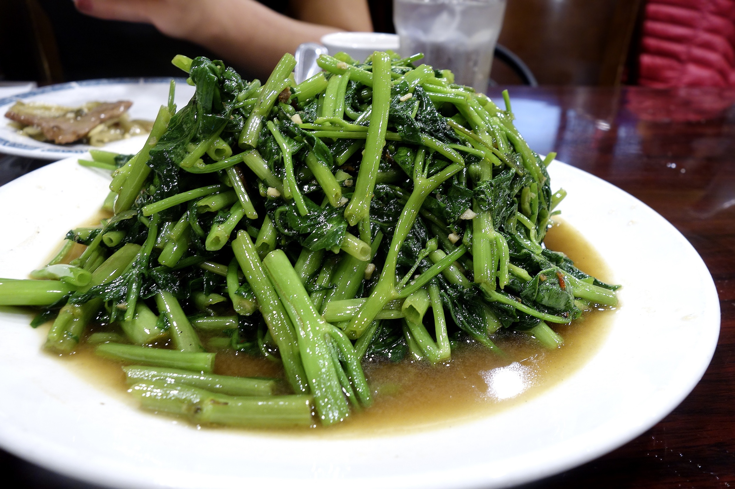 Water Spinach with Malay sauce (excuse the blur)