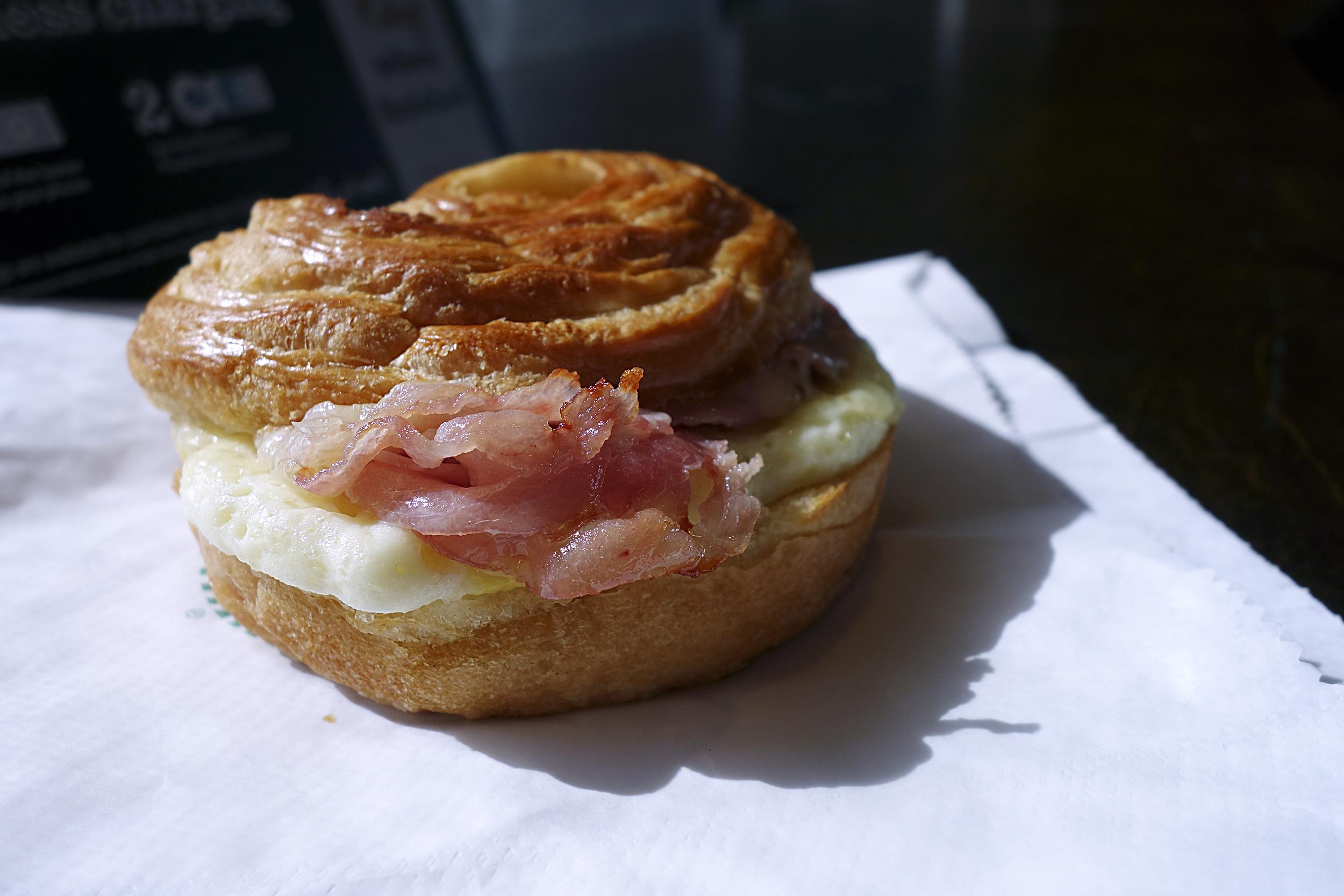 Slow-Roasted Ham & Swiss Breakfast Sandwich