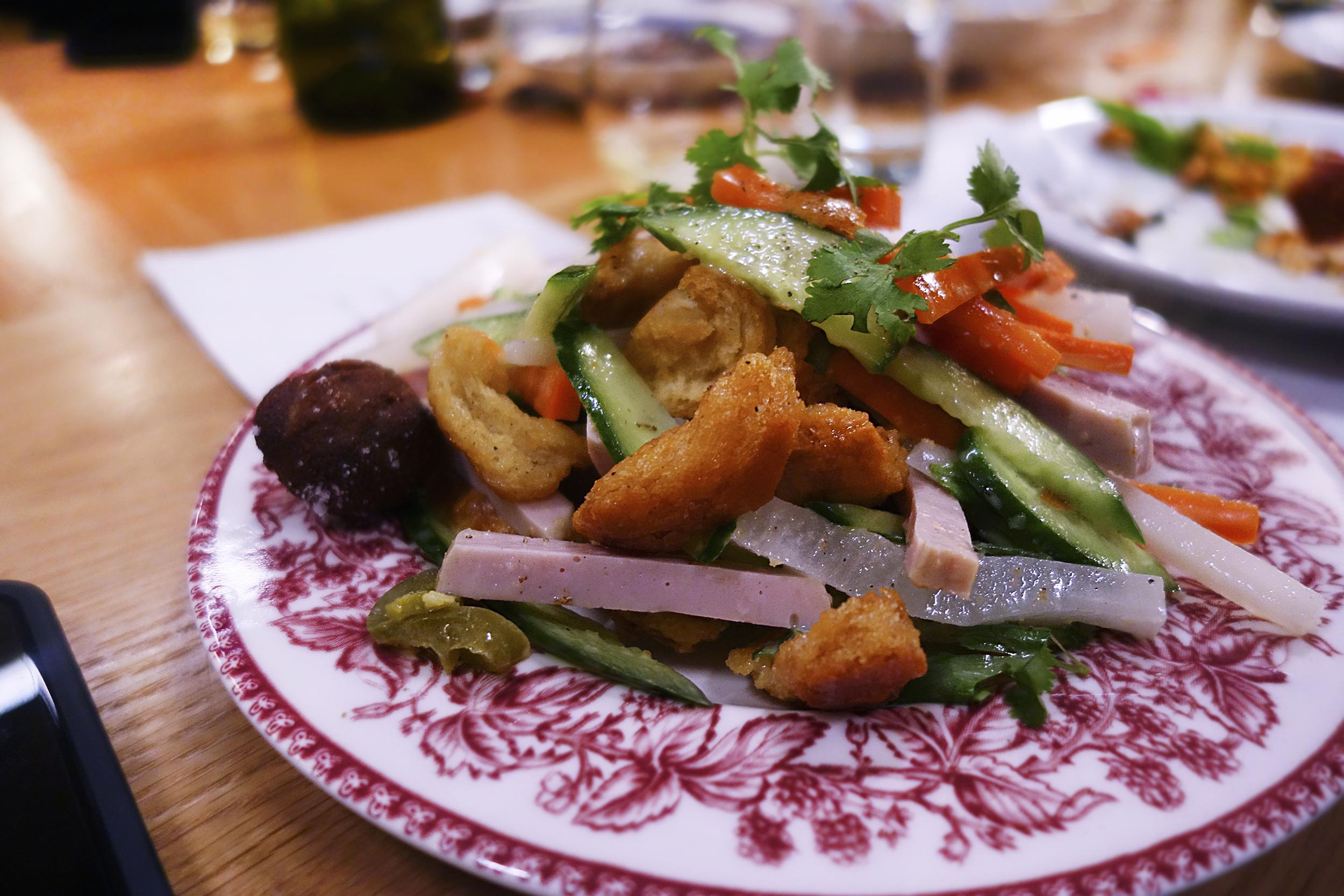 Deconstructed Banh mi salad.