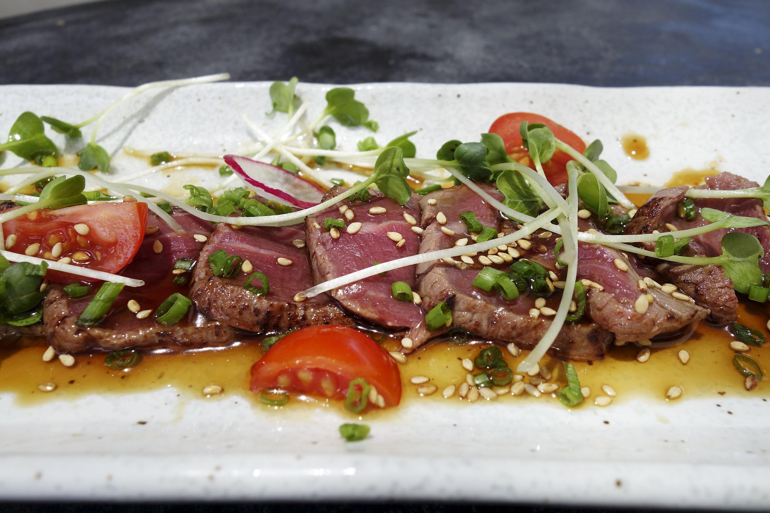 Beef Tataki - Seared with House Special Yuzu soy.