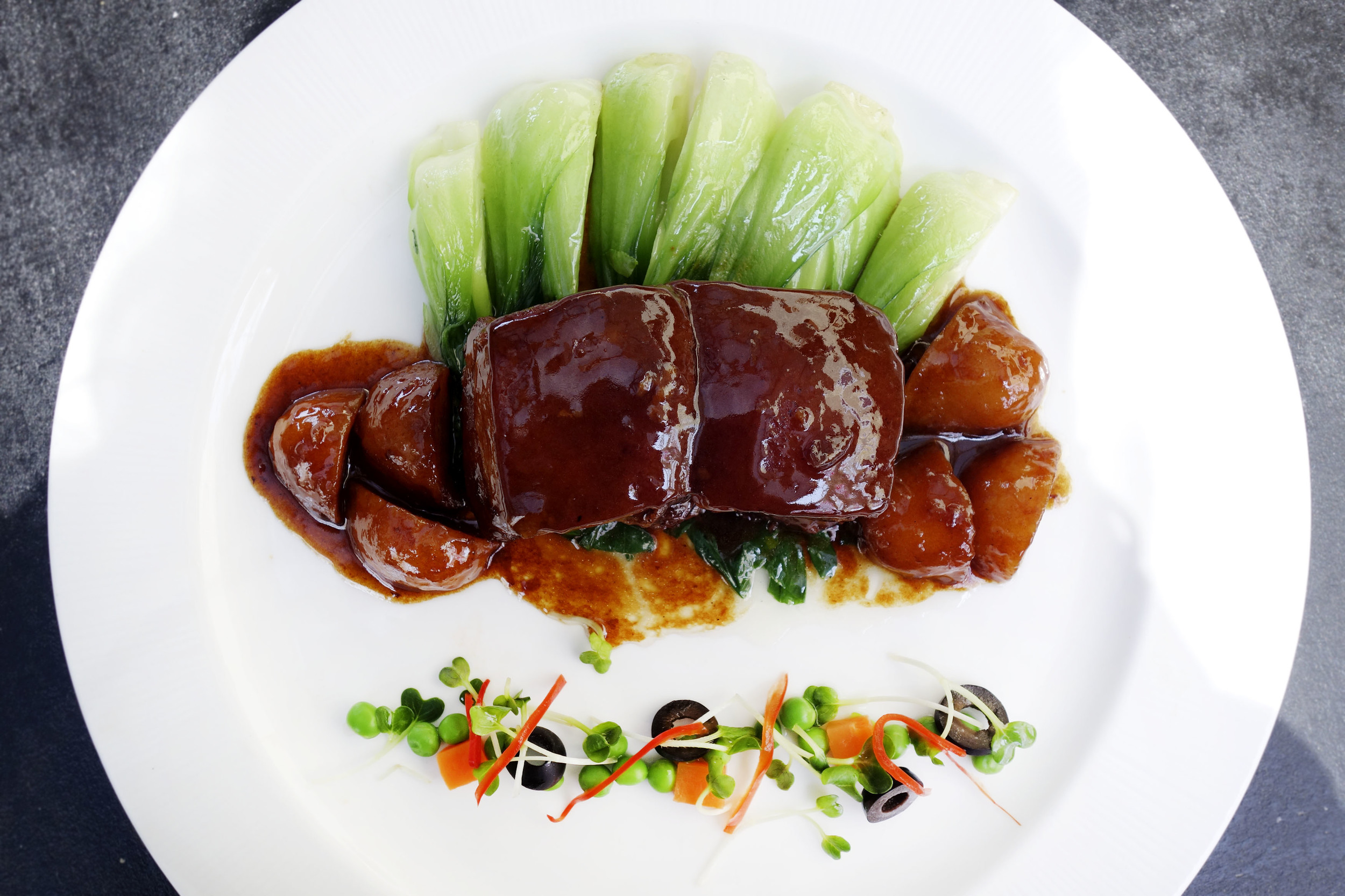 Braised Pork belly with sweet soy sauce